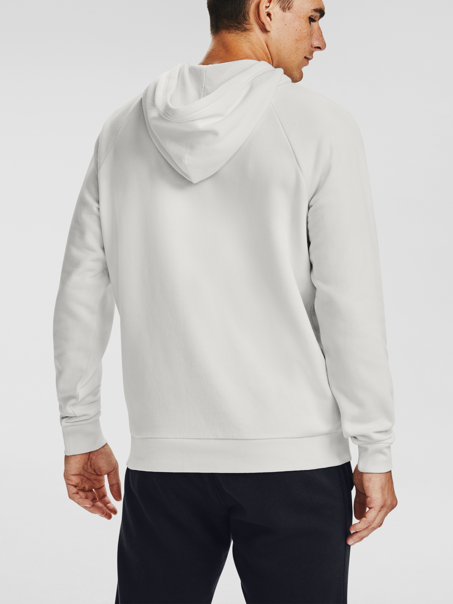 Mikina Under Armour Rival Fleece Big Logo HD-WHT (2)