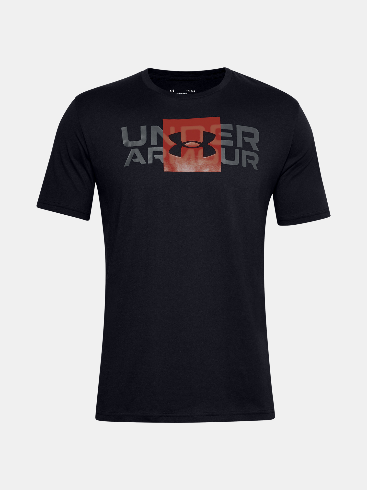 Tričko Under Armour UA BOX LOGO WORDMARK SS-BLK (3)