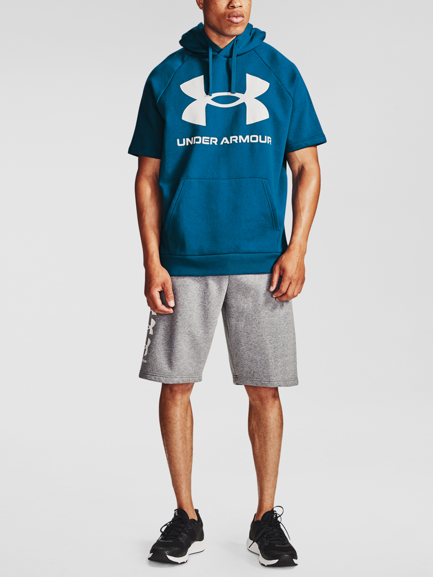 Mikina Under Armour Rival Flc Big Logo SS HD-BLU (1)