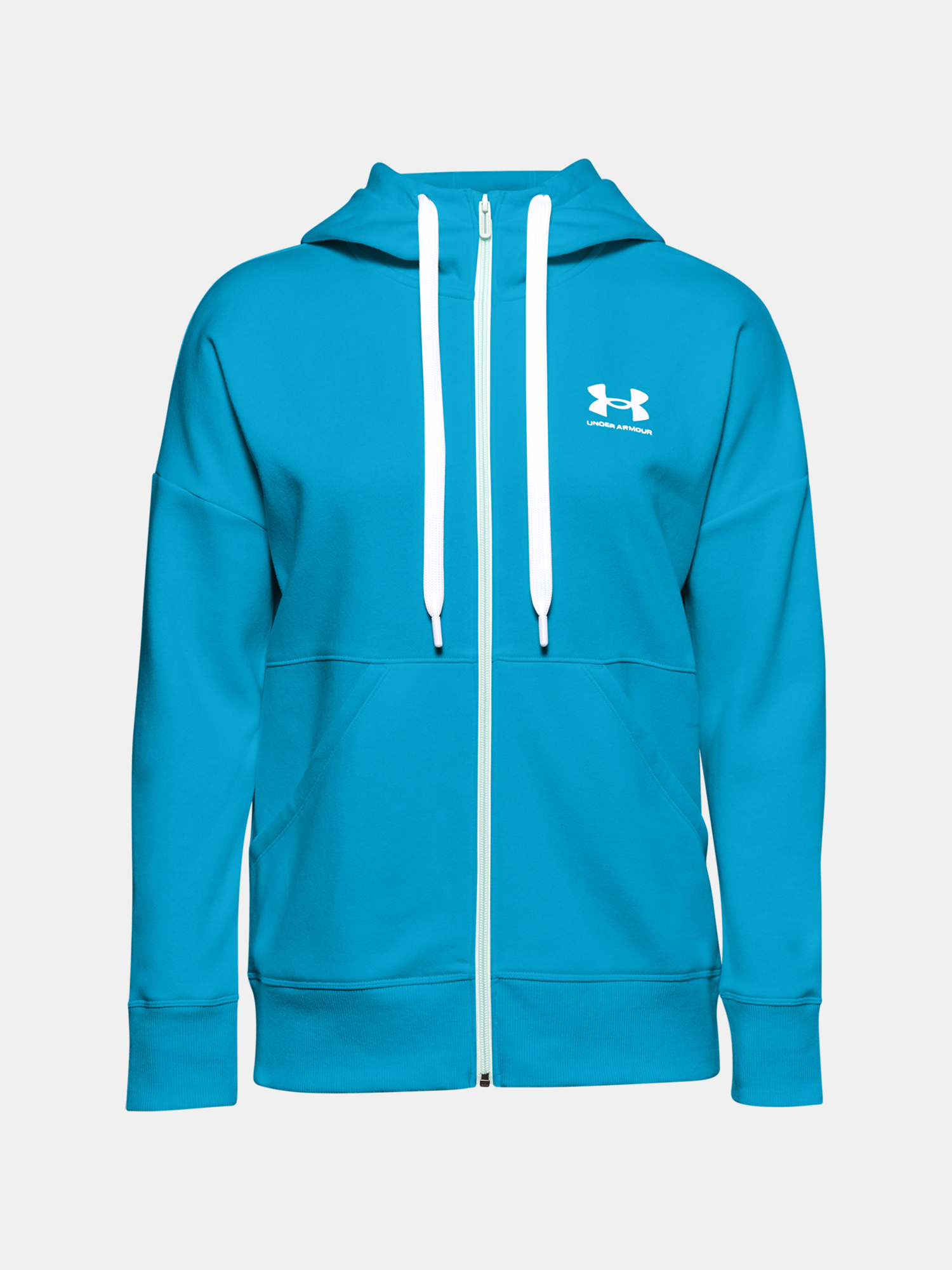 Mikina Under Armour Rival Fleece FZ Hoodie-BLU (1)