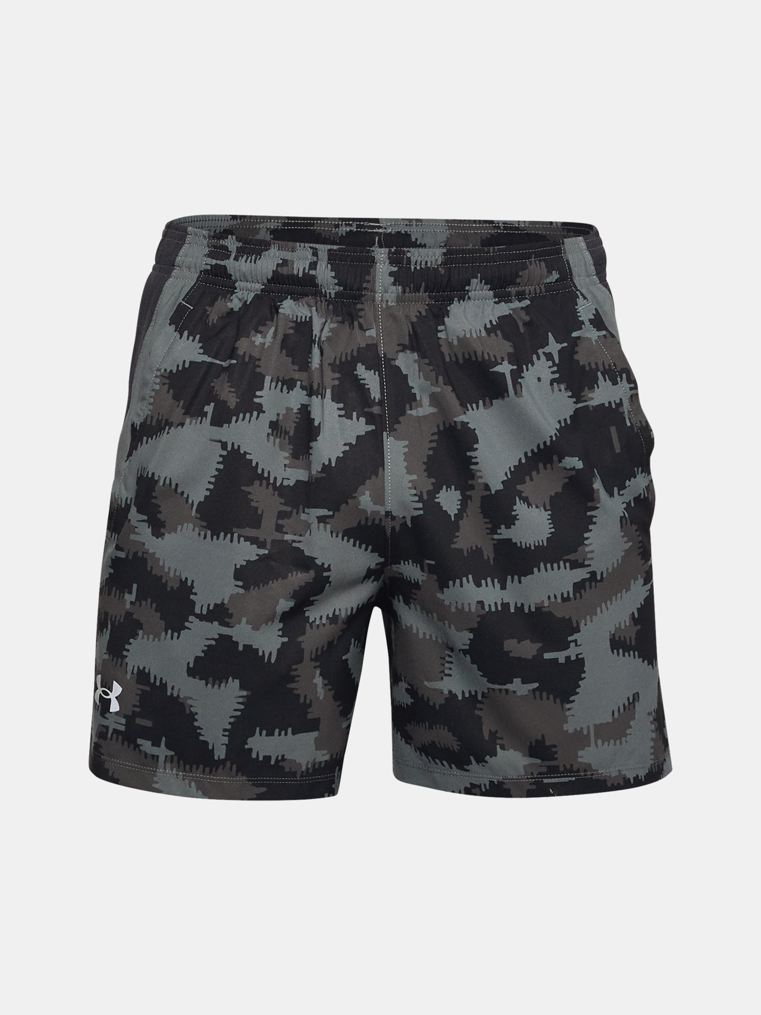 Kraťasy Under Armour UA Launch SW 5'' Camo Short-BLK (3)