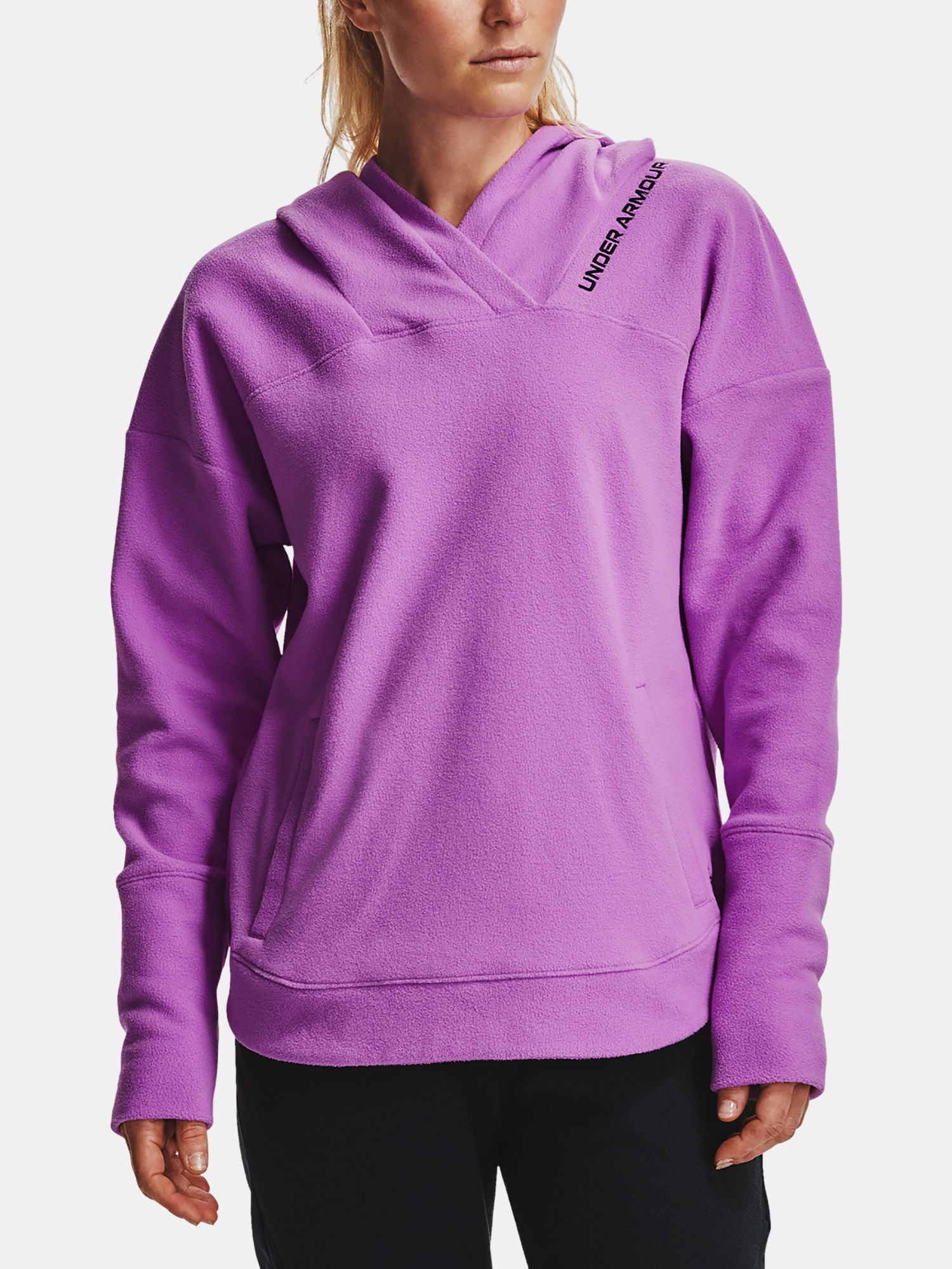 Mikina Under Armour Recover Fleece Hoodie-PPL (1)
