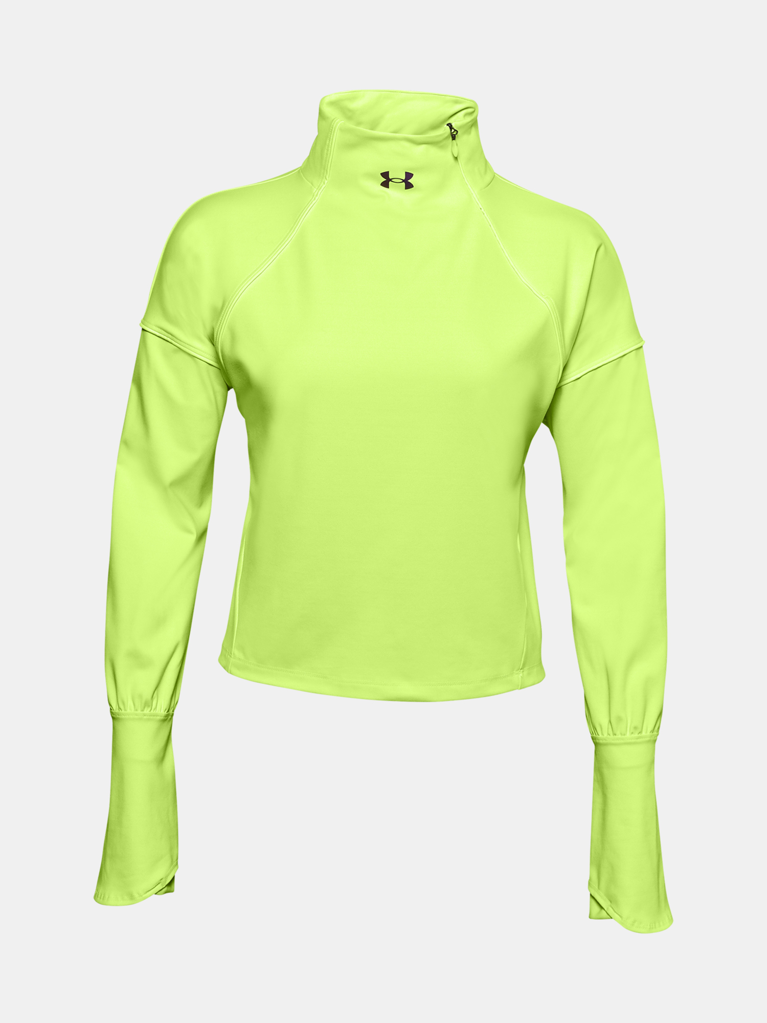 Tričko Under Armour CG Rush 1/2 Zip-GRN (3)