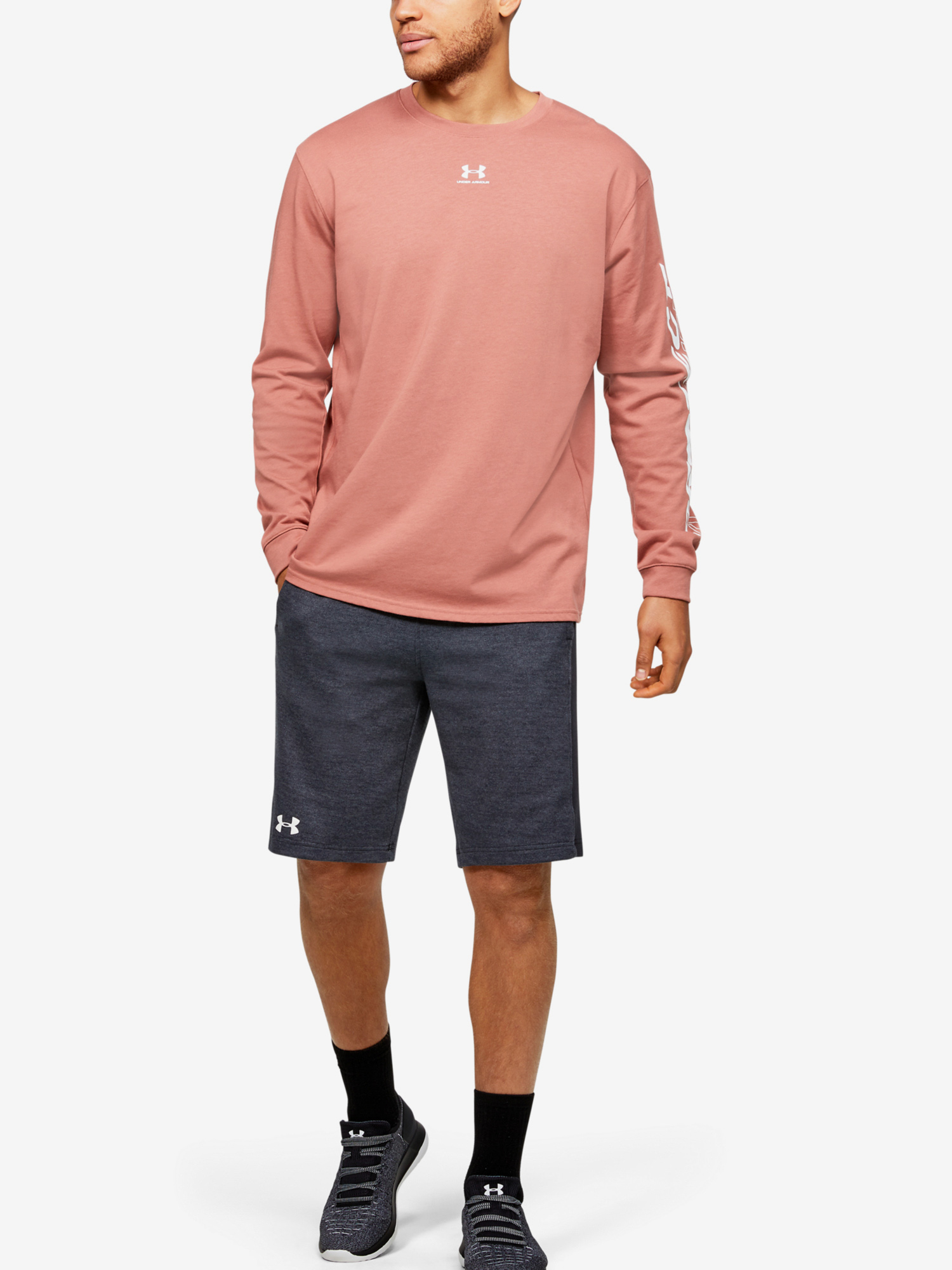 Kraťasy Under Armour DOUBLE KNIT SHORT-BLK (6)