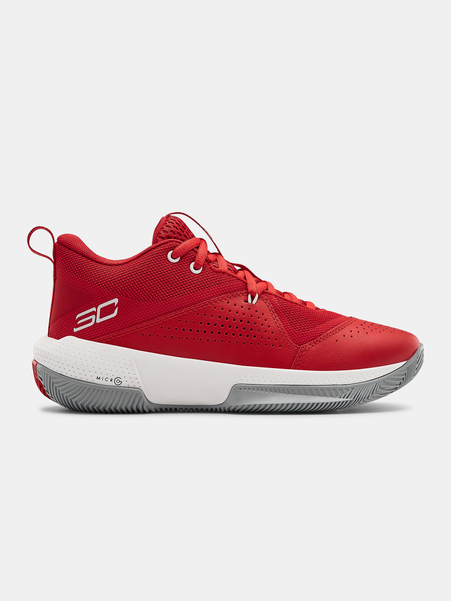 Boty Under Armour GS SC 3ZER0 IV-RED (1)