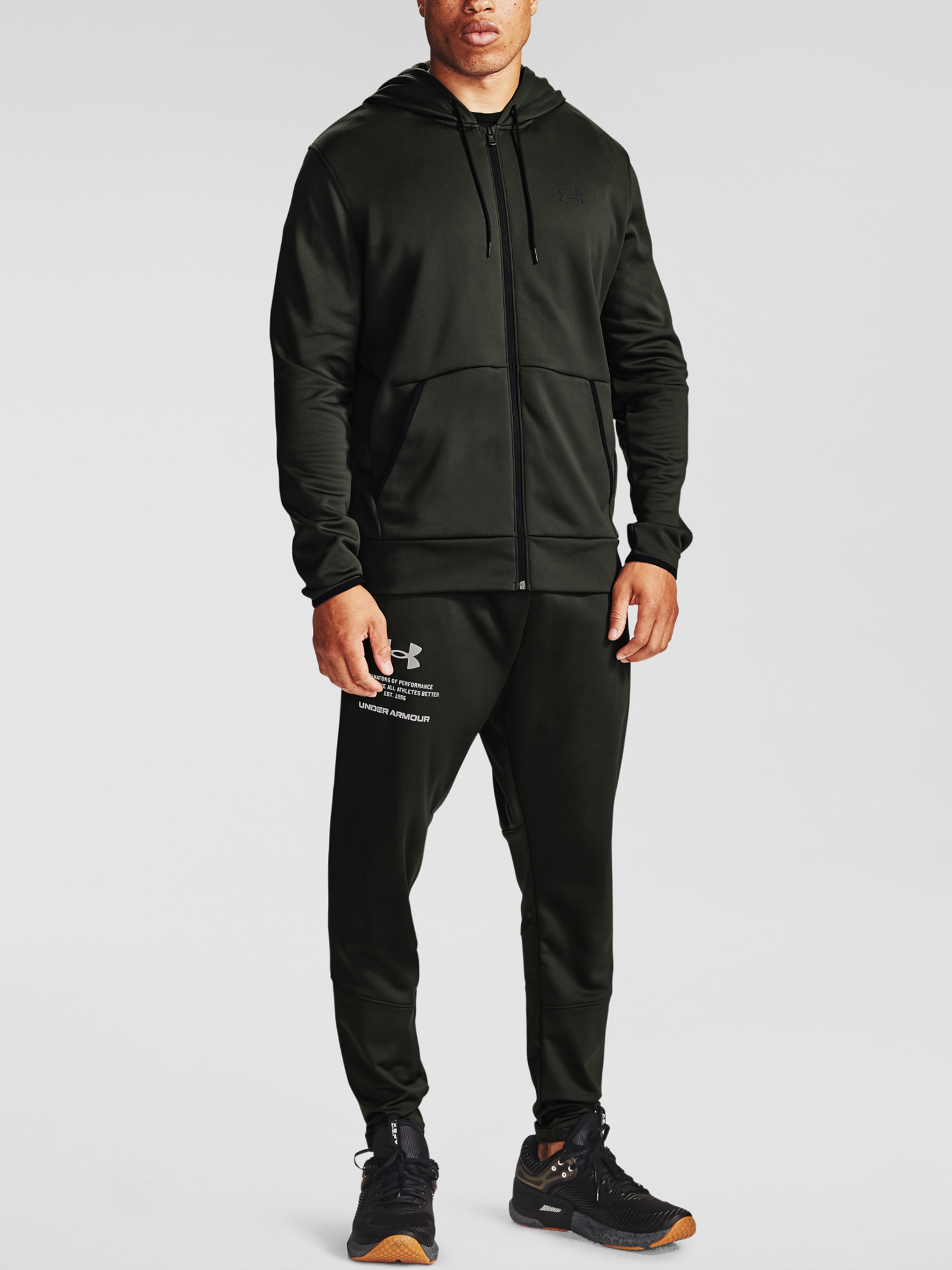 Mikina Under Armour Armour Fleece FZ Hoodie-GRN (6)
