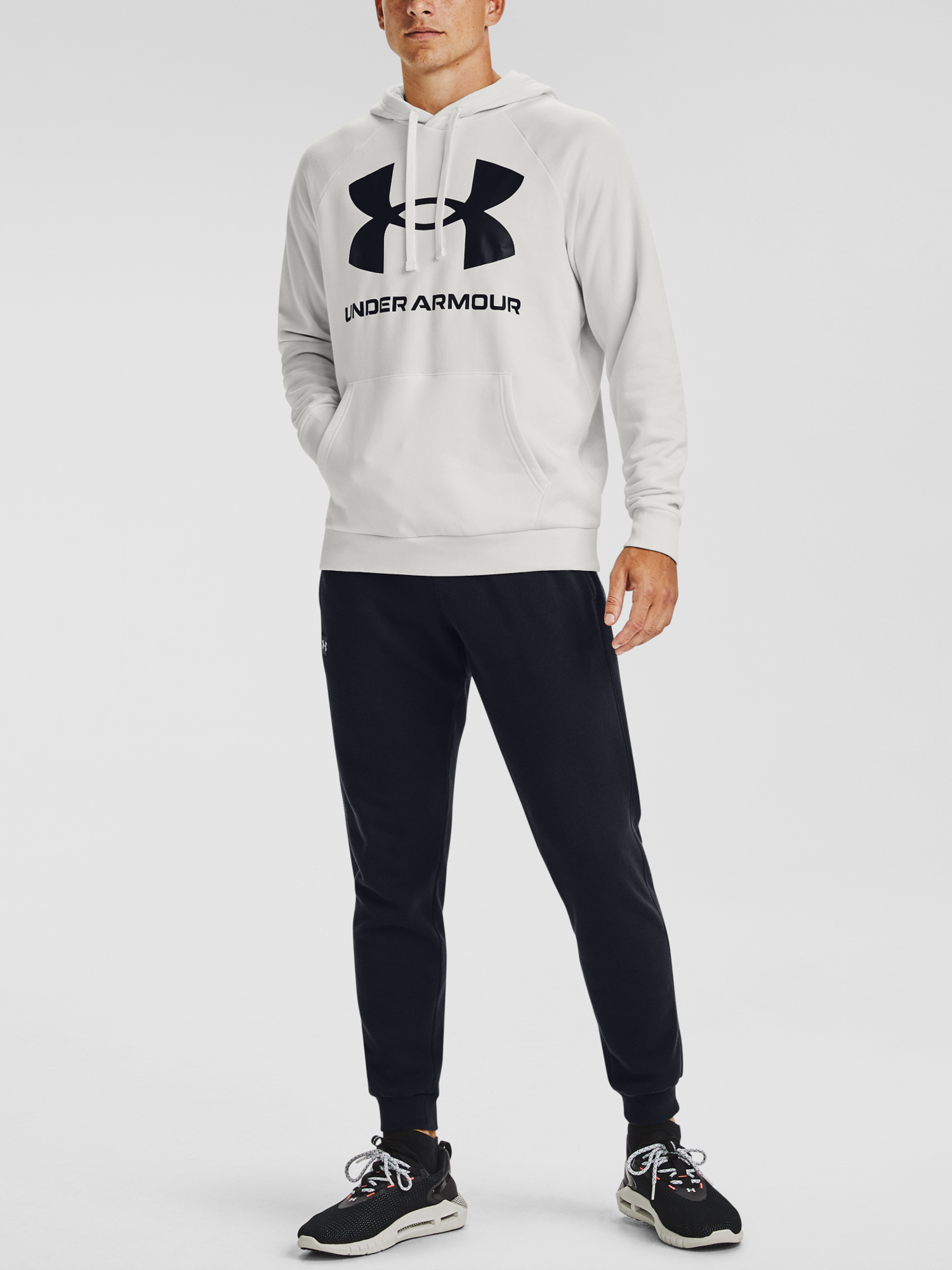 Mikina Under Armour Rival Fleece Big Logo HD-WHT (6)