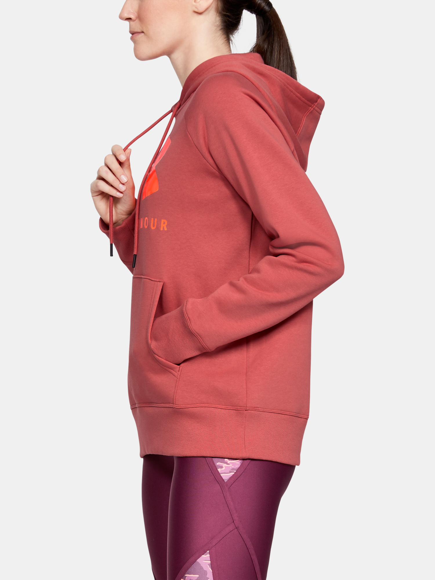 Mikina Under Armour Rival Fleece Sportstyle Graphic Hoodie-P (5)