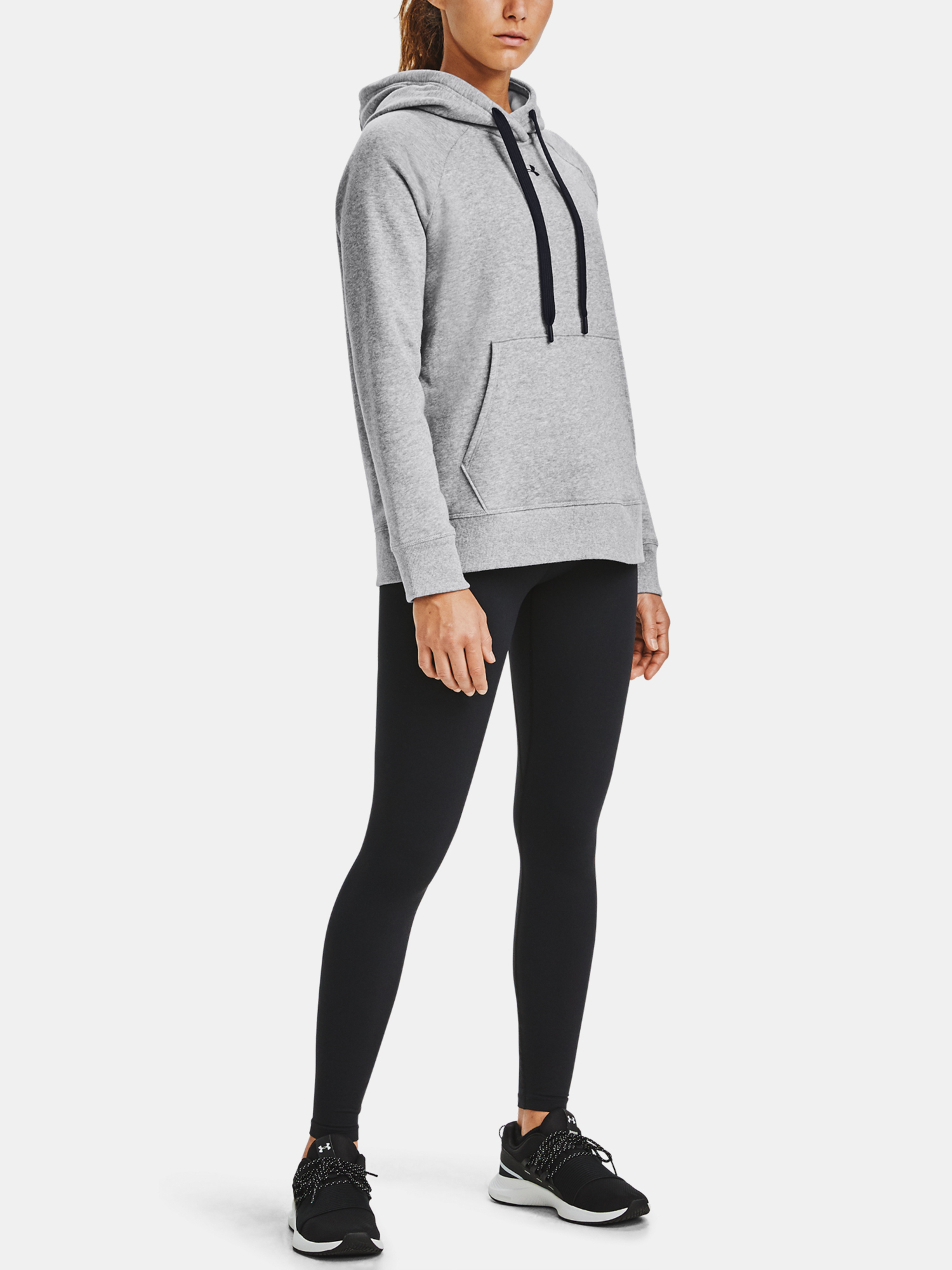 Mikina Under Armour Rival Fleece HB Hoodie-GRY (6)