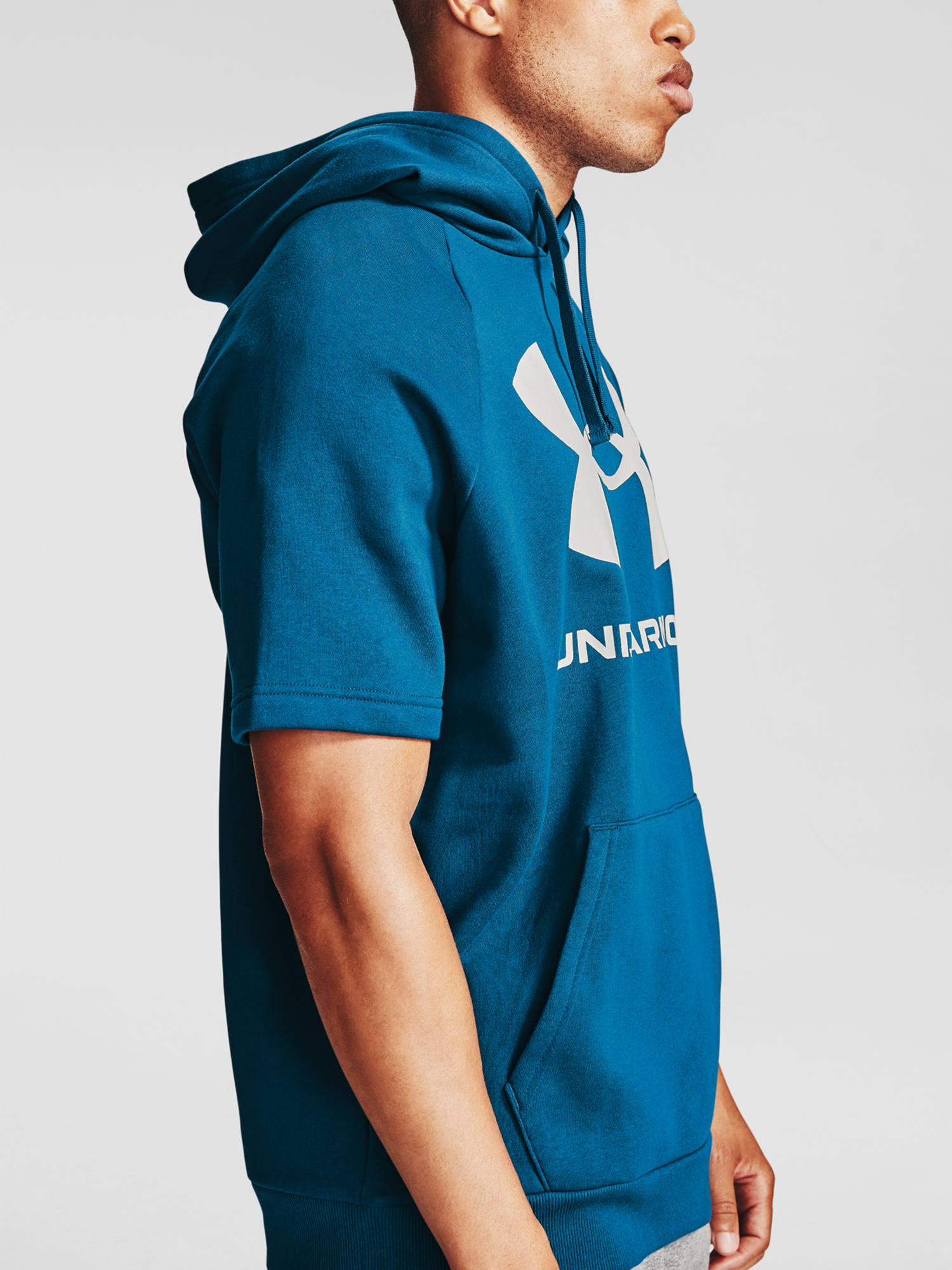 Mikina Under Armour Rival Flc Big Logo SS HD-BLU (7)