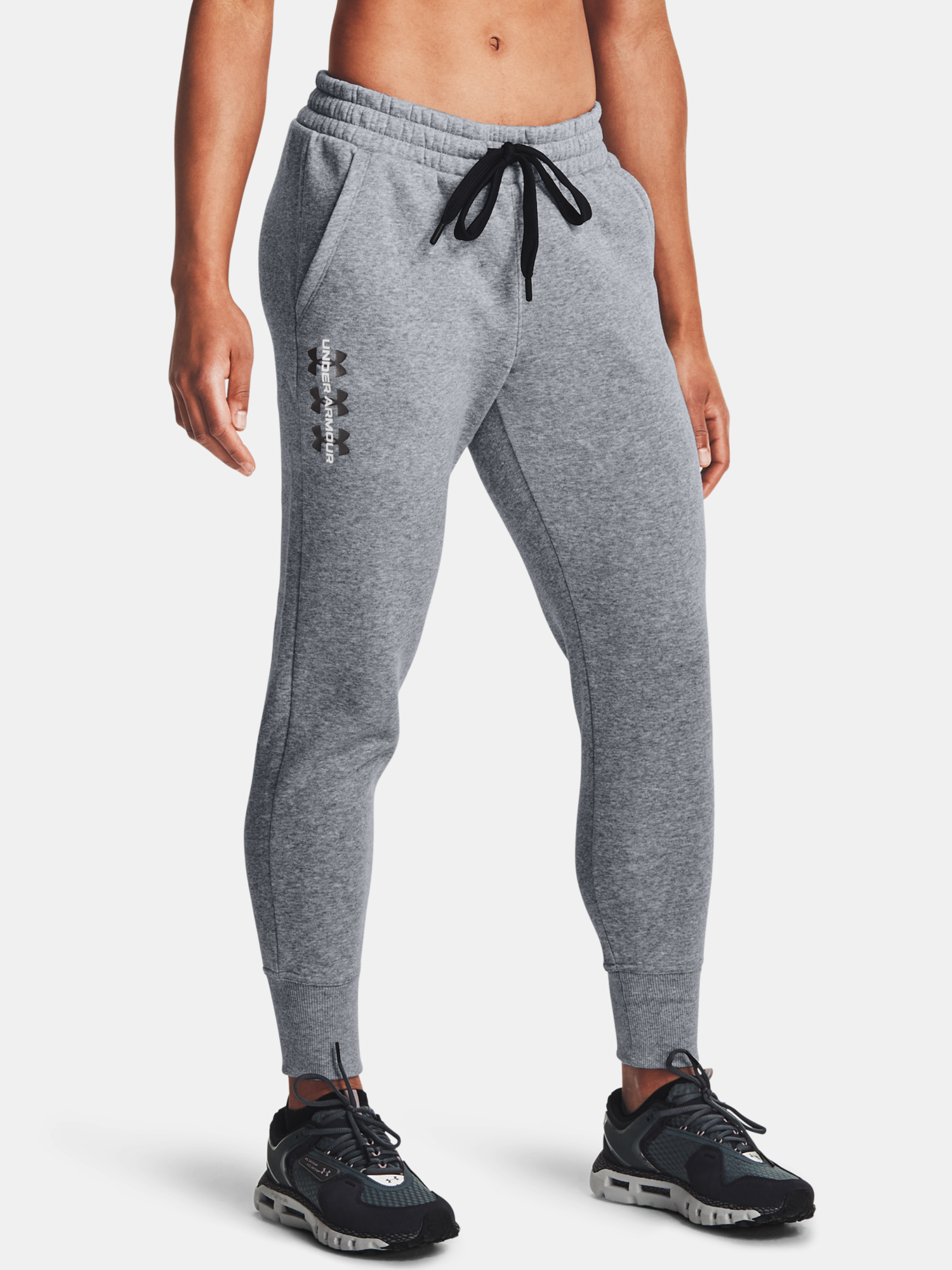 Kalhoty Under Armour Rival Fleece Pants-AMP-GRY (1)