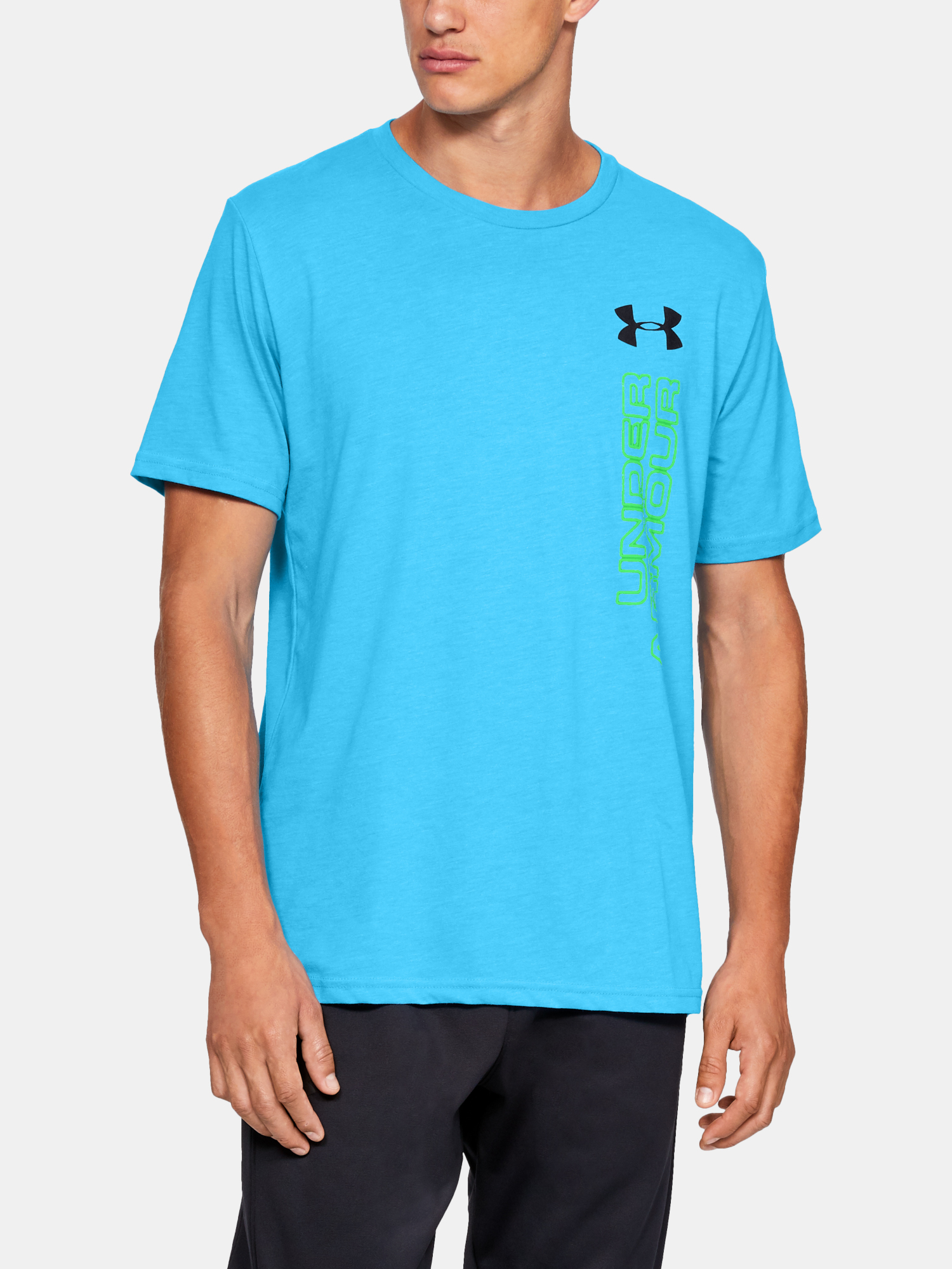 Tričko Under Armour GL Essentials LC SS T-BLU (1)