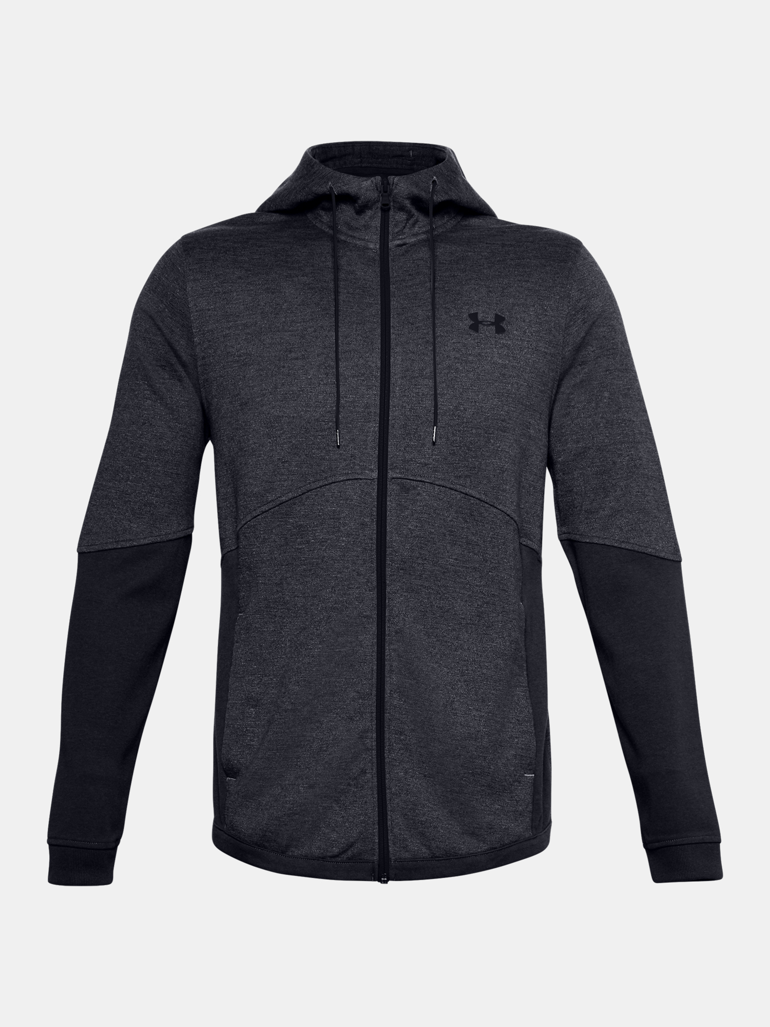 Mikina Under Armour DOUBLE KNIT FZ HOODIE-GRY (1)