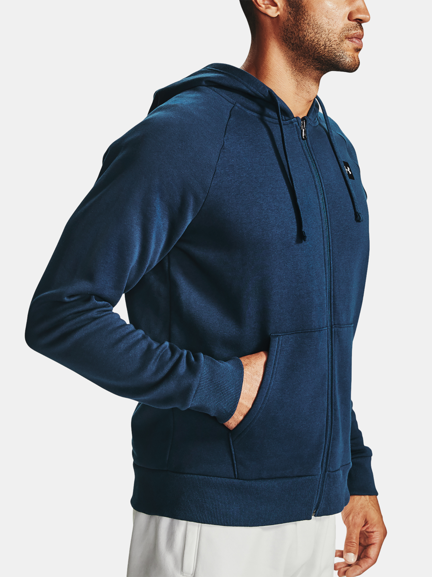 Mikina Under Armour UA Rival Fleece FZ Hoodie-NVY (6)
