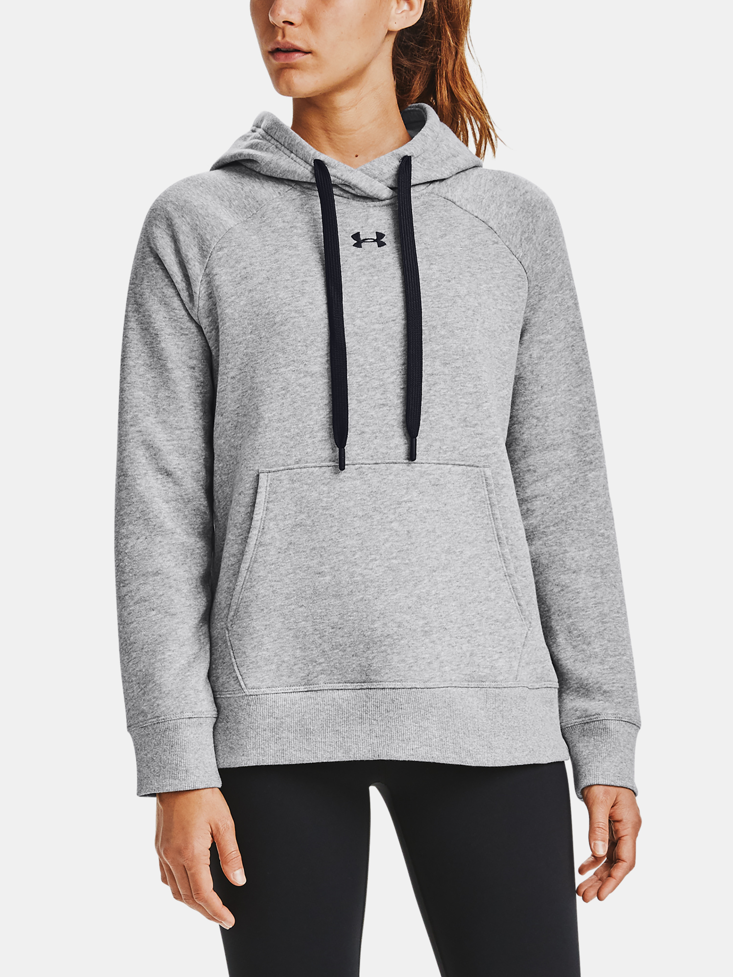 Mikina Under Armour Rival Fleece HB Hoodie-GRY (1)