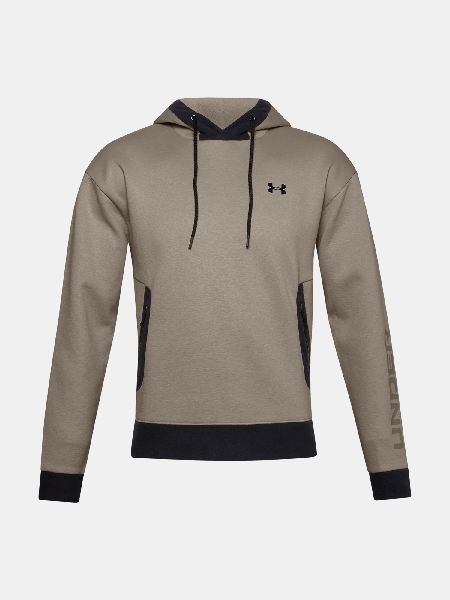 Mikina Under Armour Recover Fleece Hoodie-BRN (3)