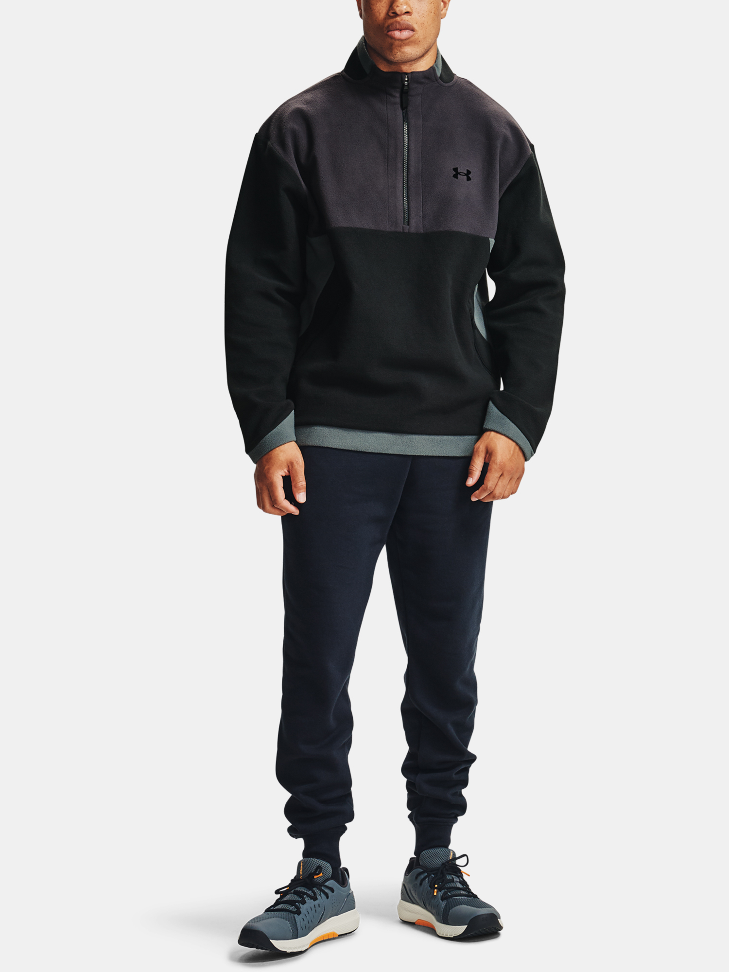 Bunda Under Armour Recover Fleece 1/4 Zip-BLK (7)