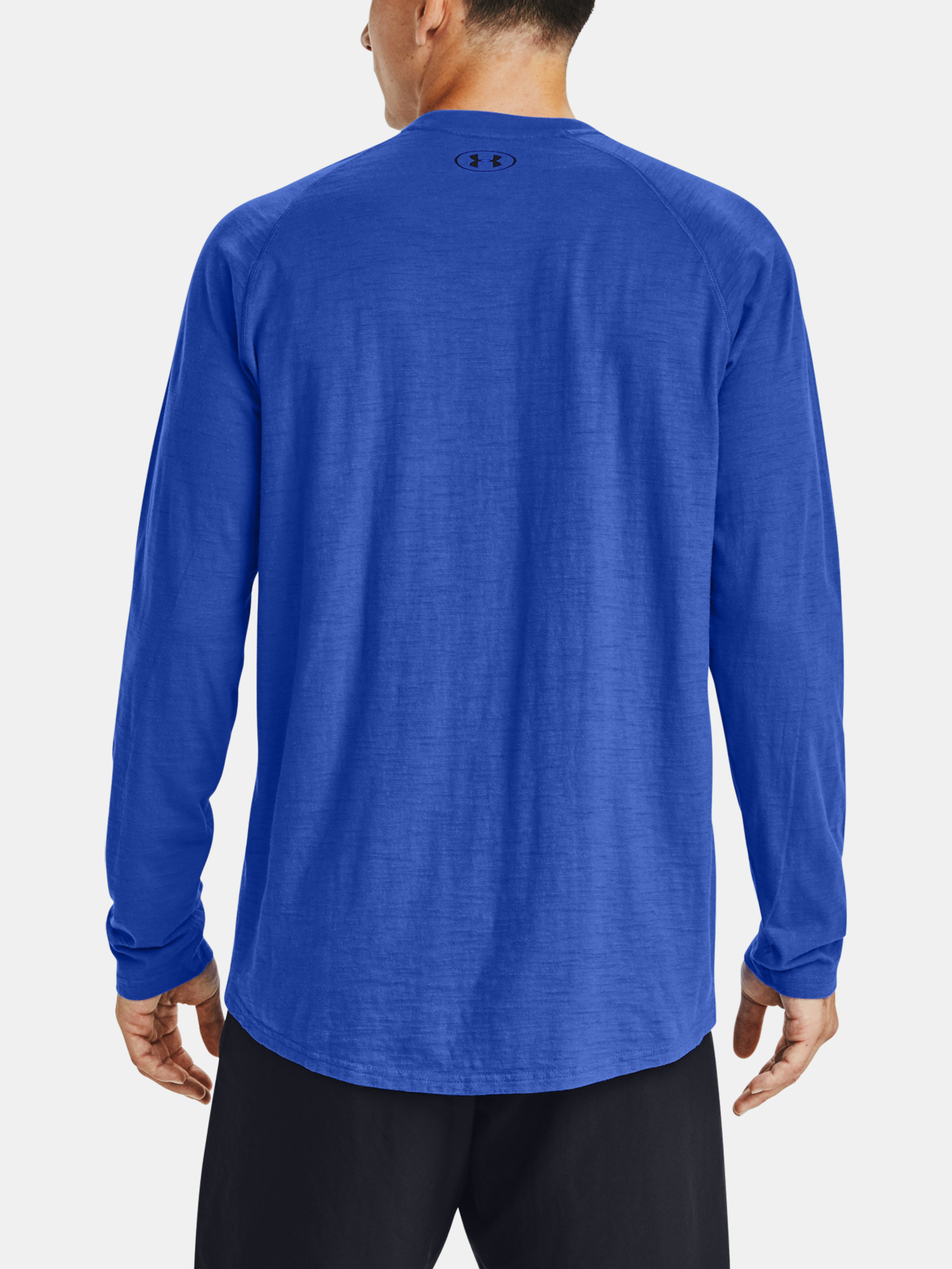 Tričko Under Armour Charged Cotton LS-BLU (2)