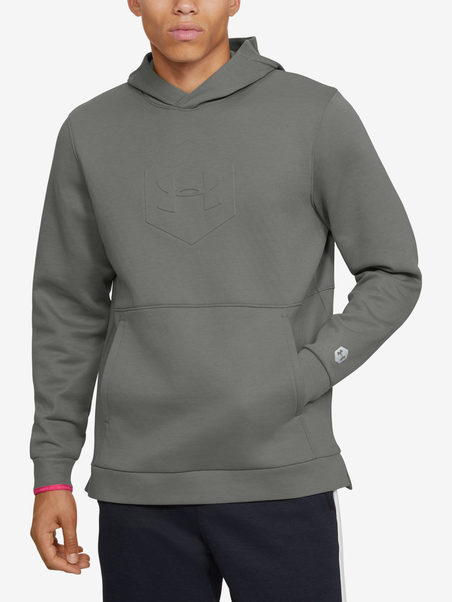 Mikina Under Armour Athlete Recovery Fleece Graphic Hoodie-G (1)