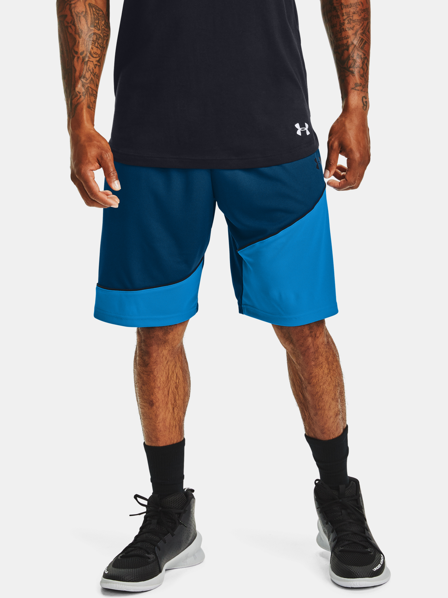 Kraťasy Under Armour Baseline 10IN Short-BLU (1)