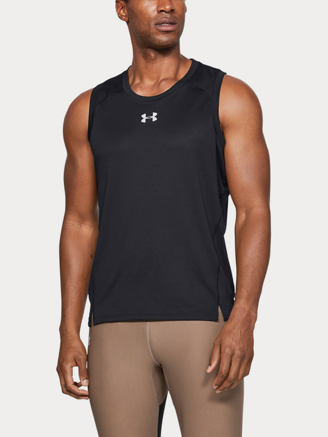 Tílko Under Armour QUALIFIER SINGLET-BLK (1)