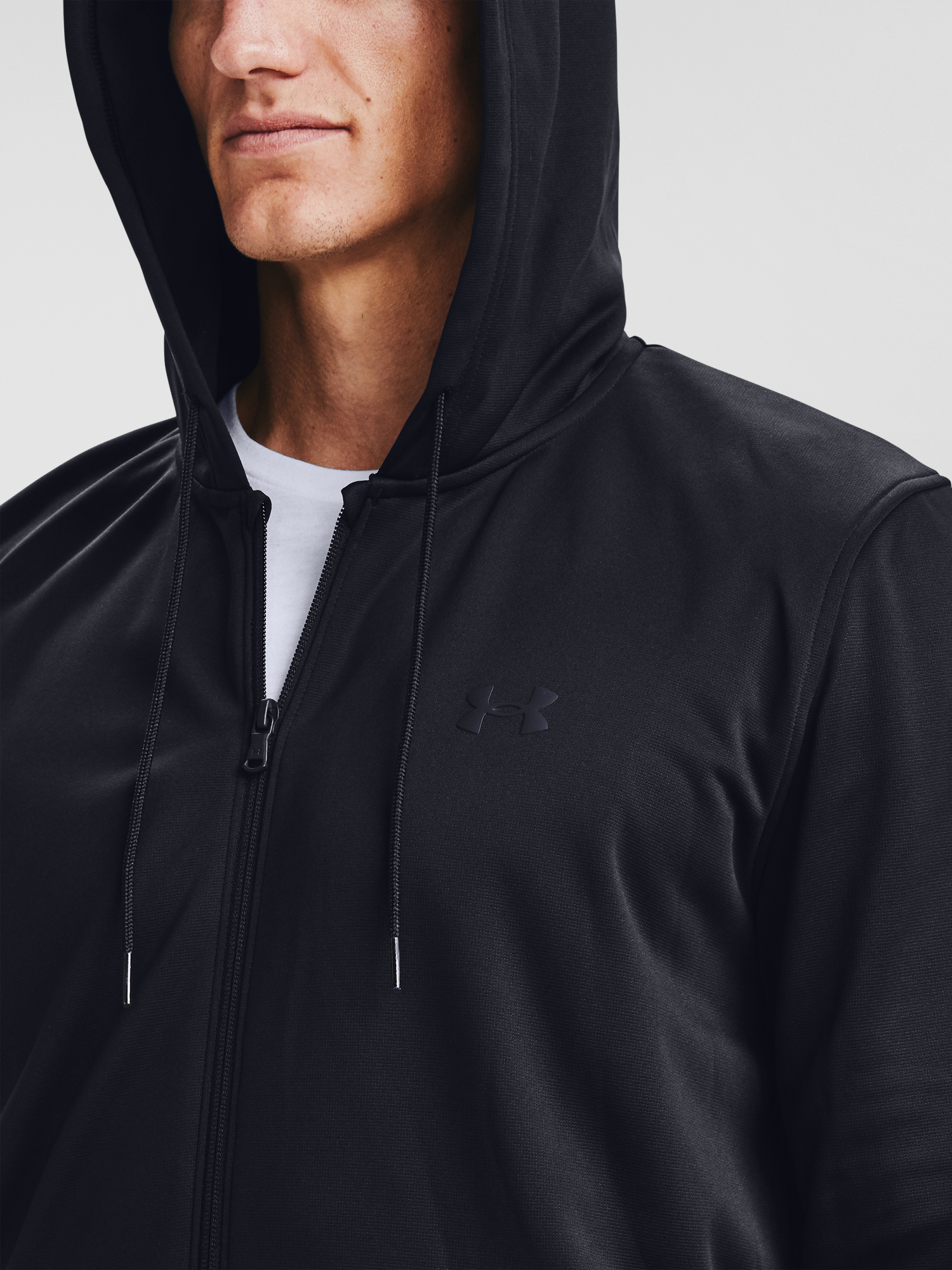 Mikina Under Armour UA Armour Fleece FZ Hoodie-BLK (5)