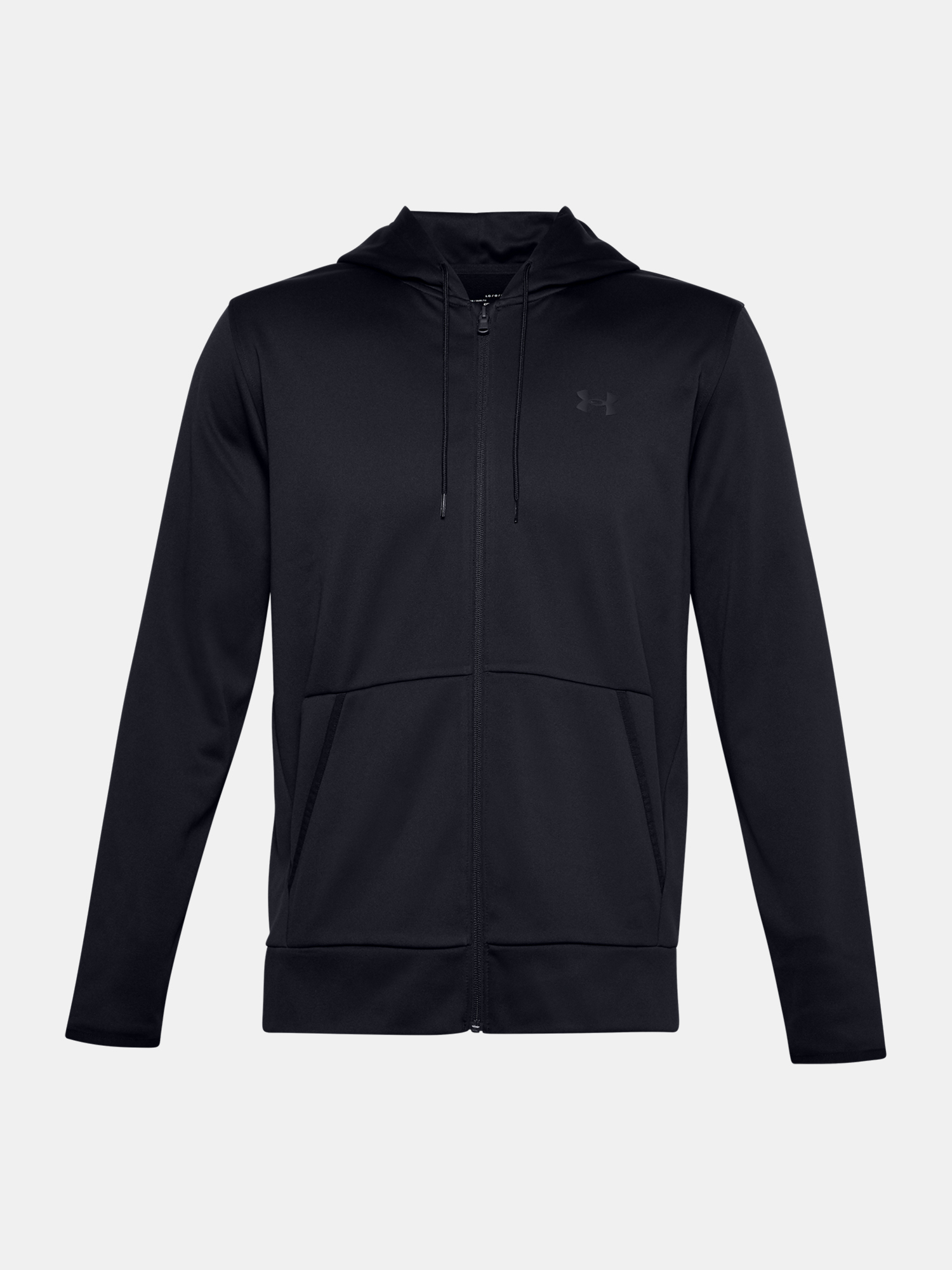 Mikina Under Armour UA Armour Fleece FZ Hoodie-BLK (1)