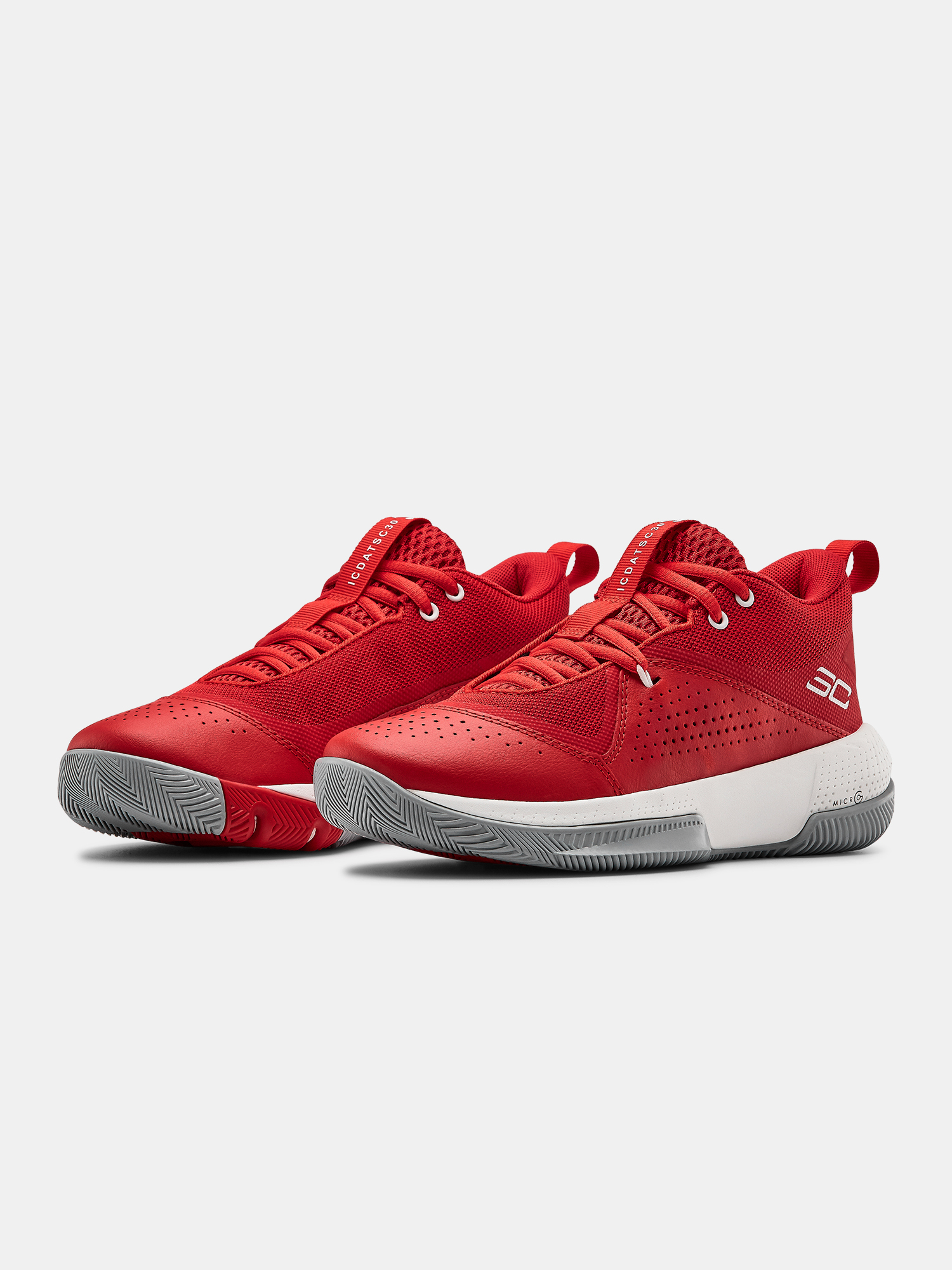 Boty Under Armour GS SC 3ZER0 IV-RED (3)