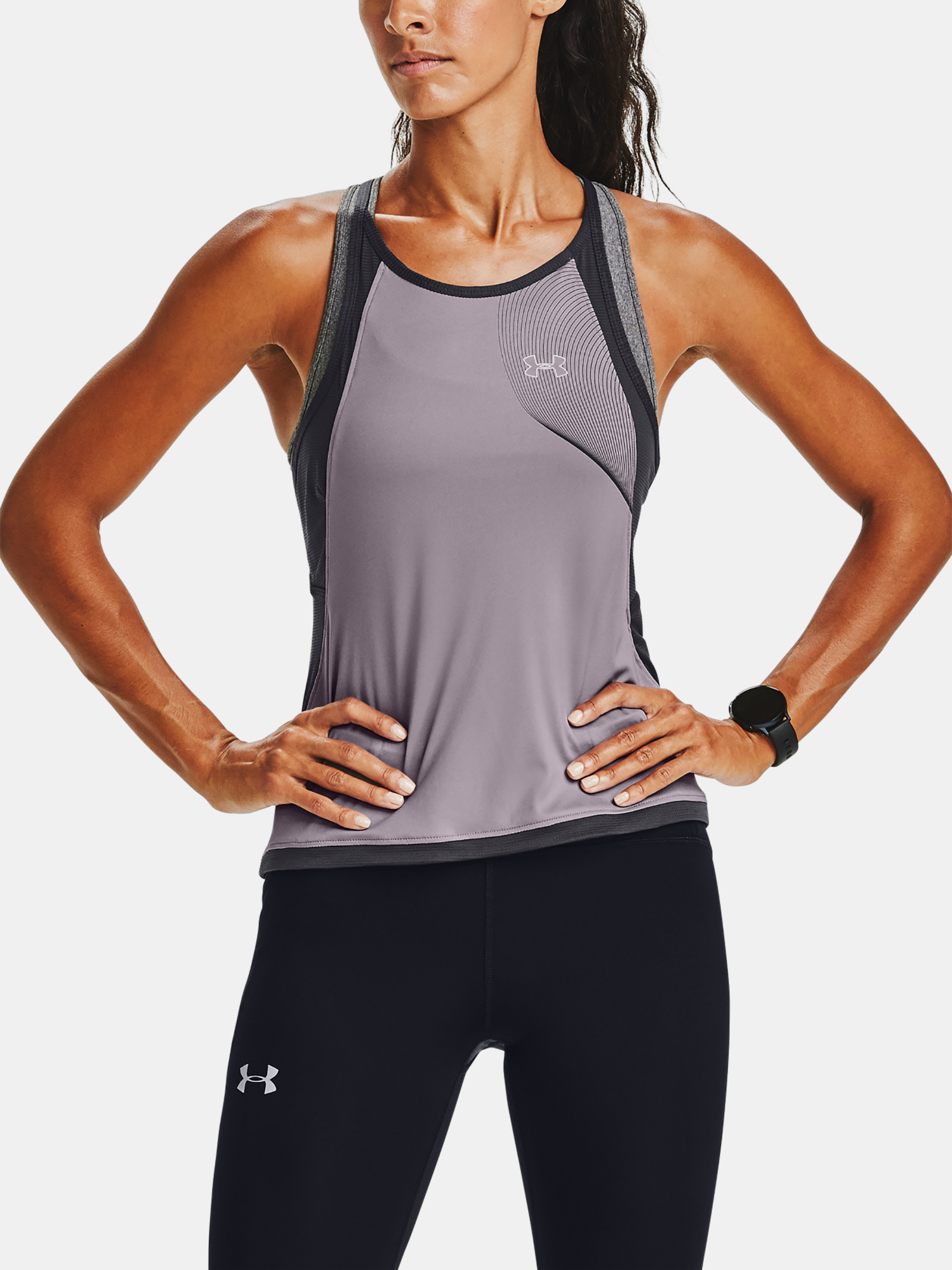 Tílko Under Armour W  Qlifier ISO-CHILL Tank-PPL (1)