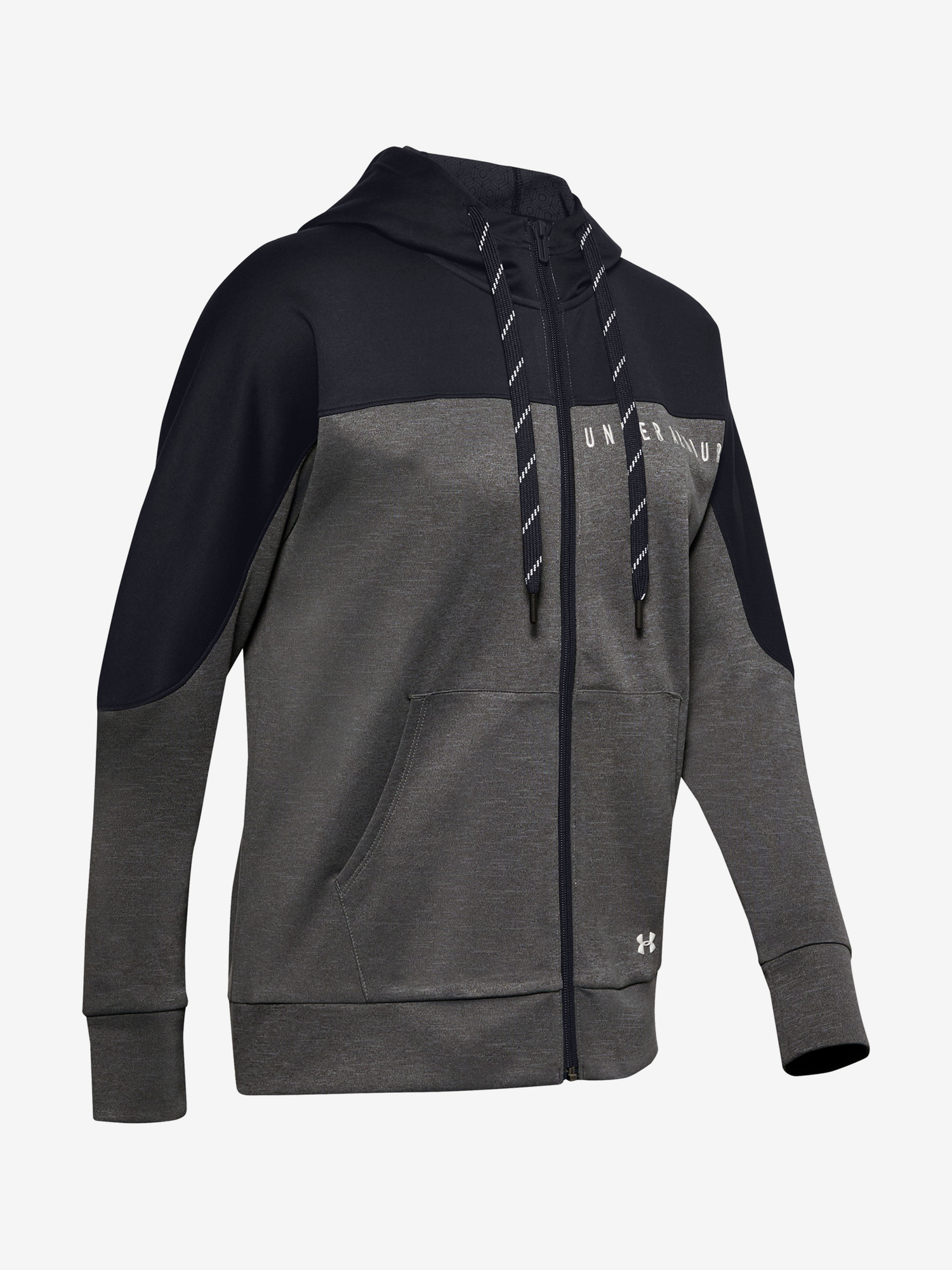 Mikina Under Armour Recover Knit FZ Hoodie-GRY (3)