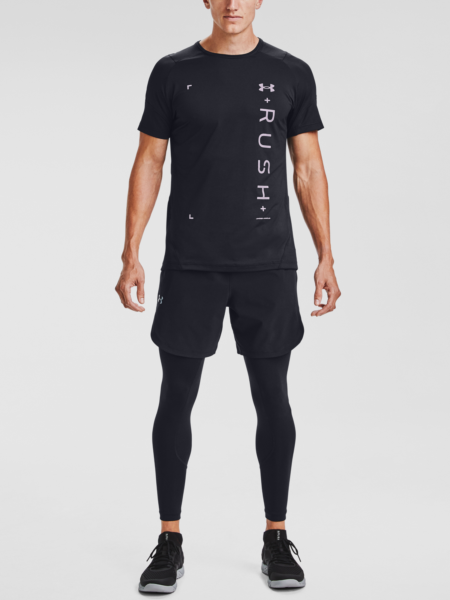Tričko Under Armour UA RUSH HG 2.0 Graphic SS-BLK (6)