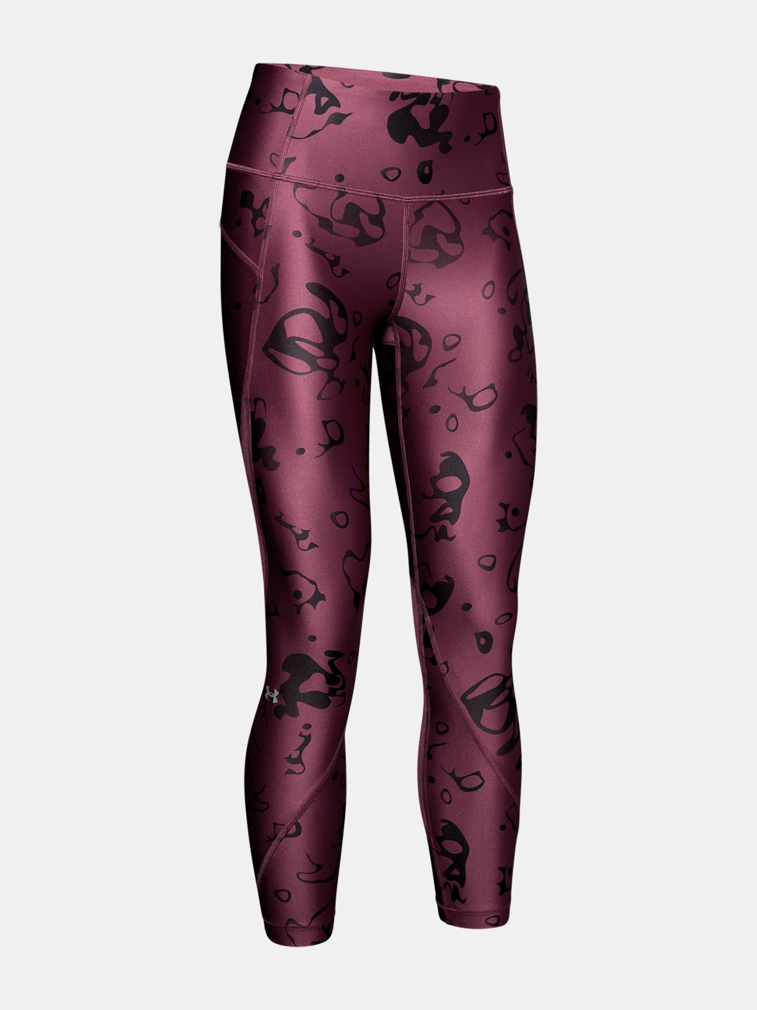 Legíny Under Armour HG Armour Ankle Crop - Ako Print-Purp (3)