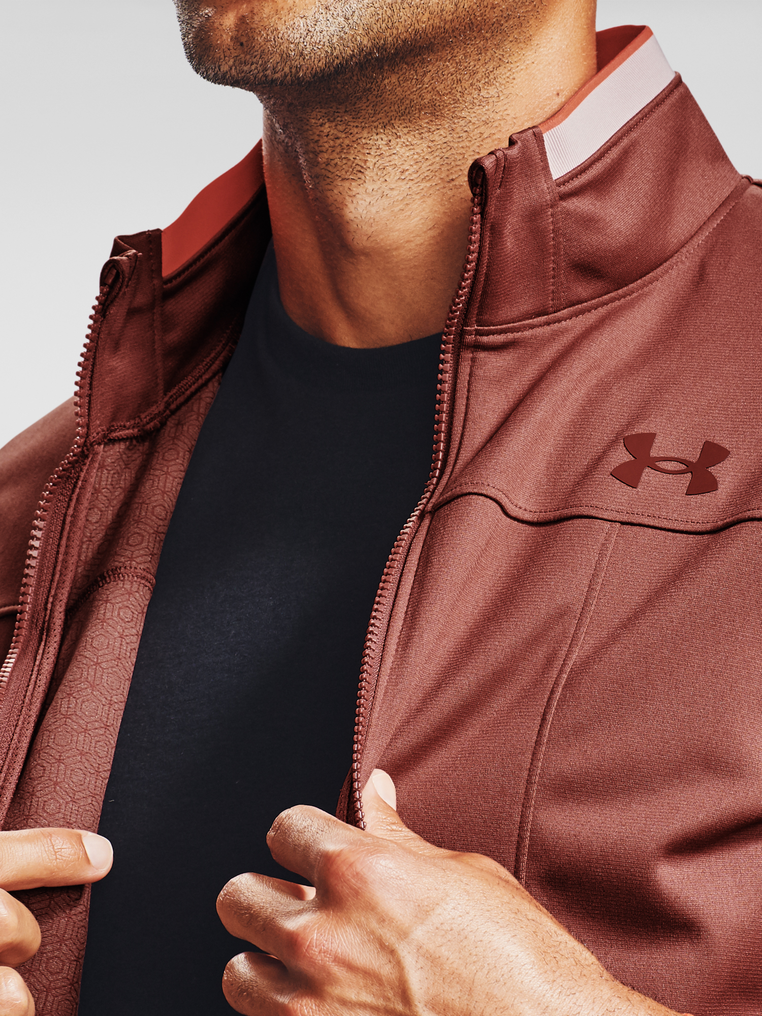 Bunda Under Armour UA Recover Knit Track Jacket-RED (4)