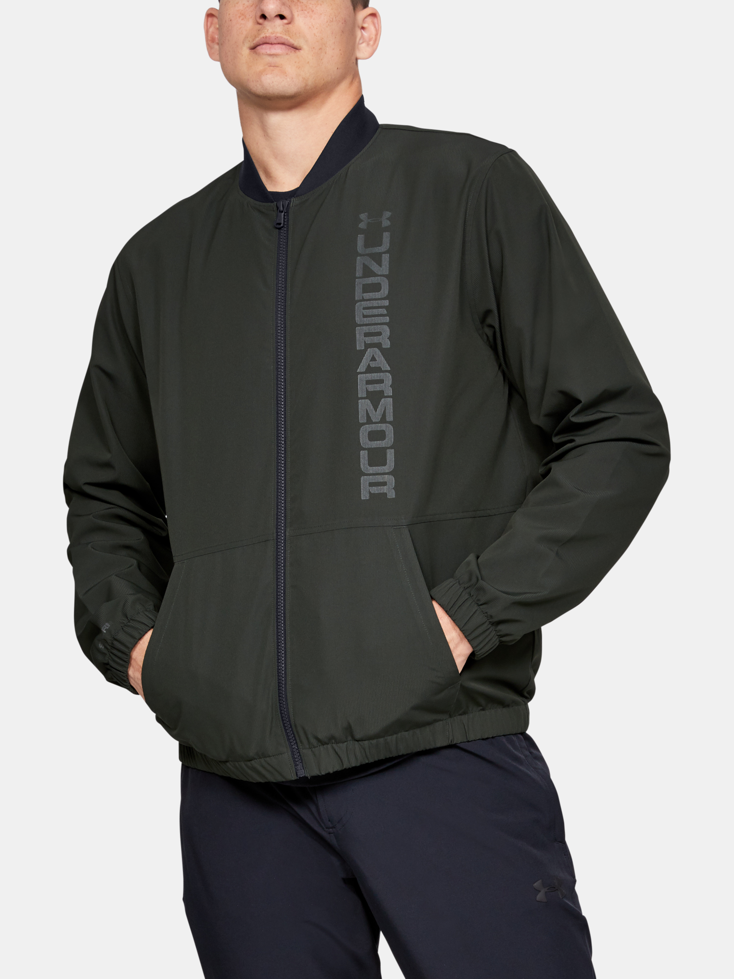 Bunda Under Armour Unstoppable Essential Bomber-Grn (1)