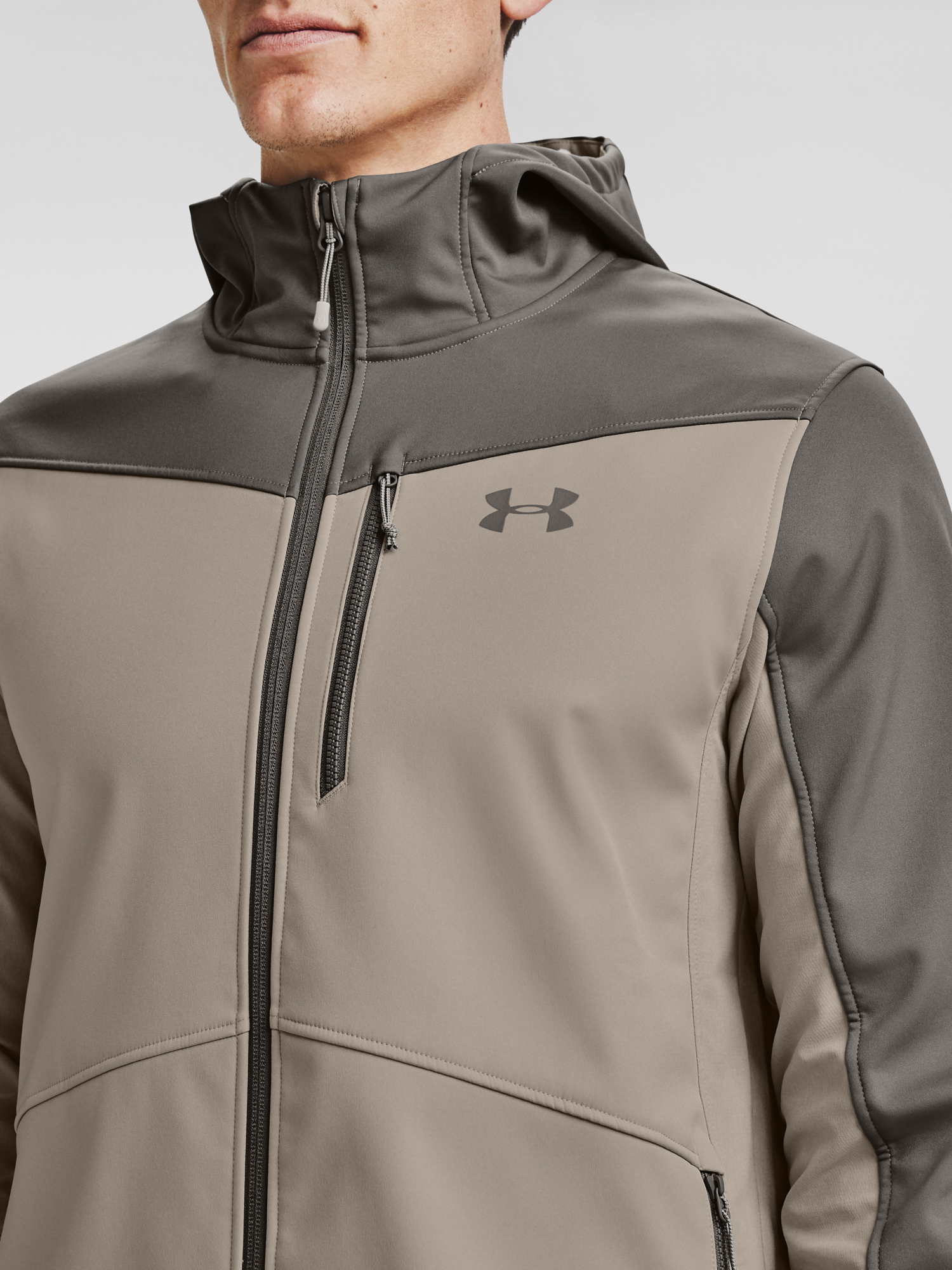 Bunda Under Armour UA CGI Shield Hooded FZ-BRN (4)