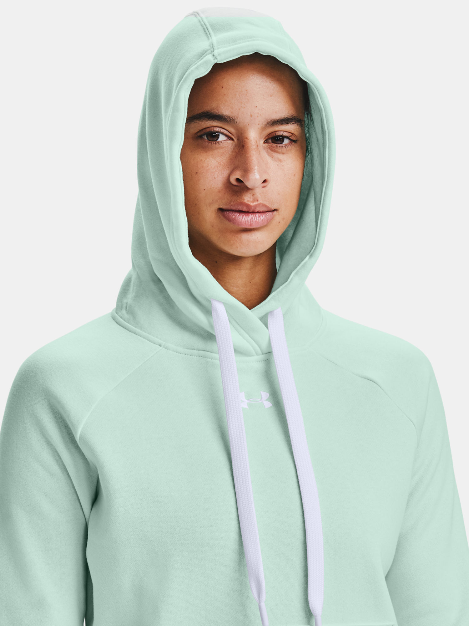 Mikina Under Armour Rival Fleece HB Hoodie-BLU (4)