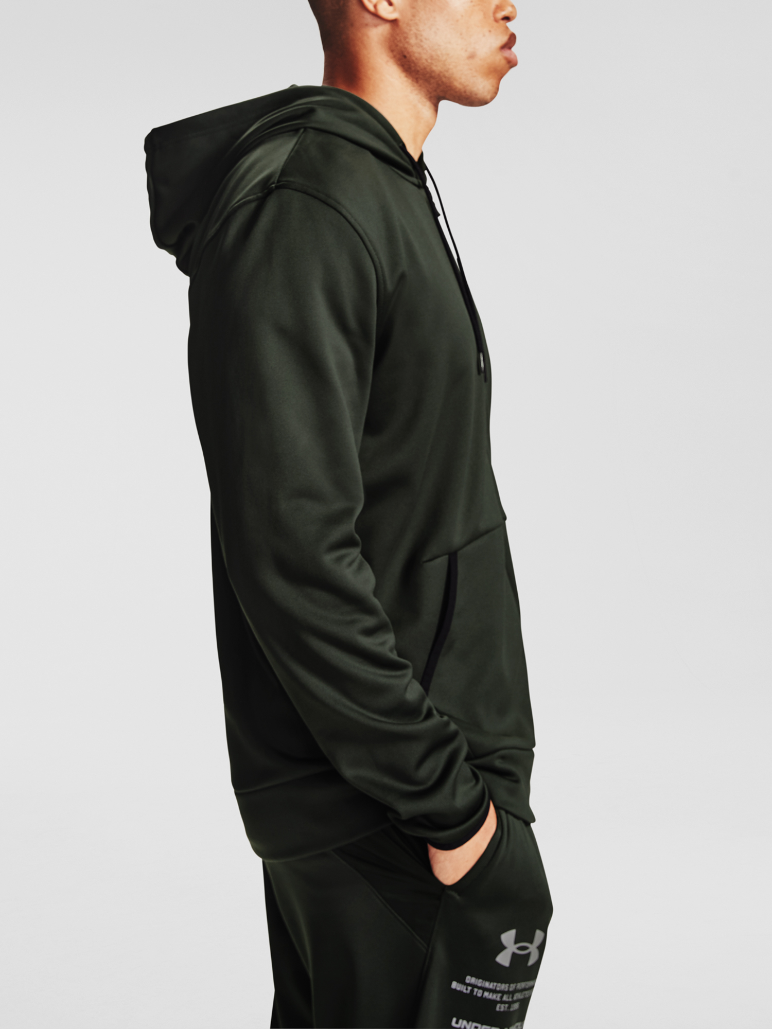 Mikina Under Armour Armour Fleece FZ Hoodie-GRN (5)