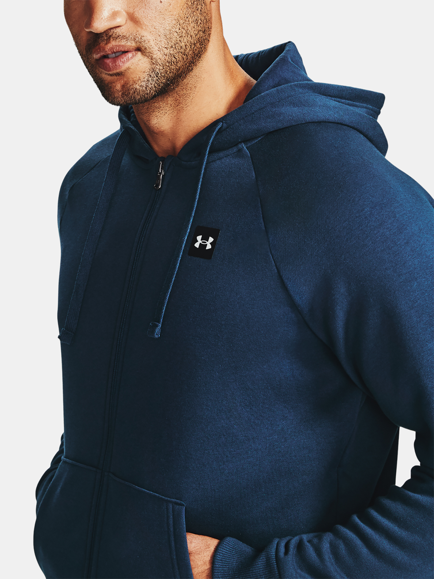 Mikina Under Armour UA Rival Fleece FZ Hoodie-NVY (1)