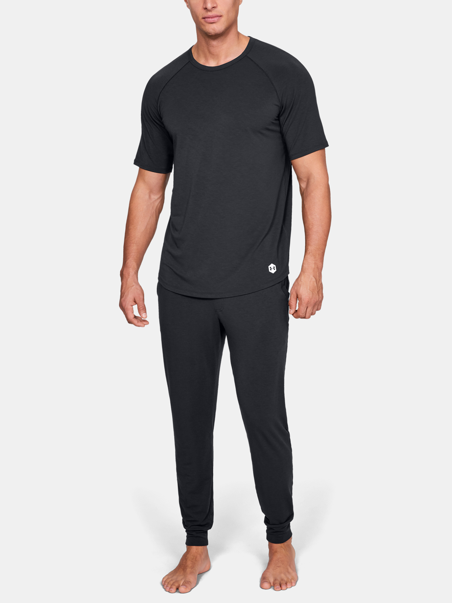 Pyžamo Under Armour UA Recover Sleepwear SS Crew-BLK (6)
