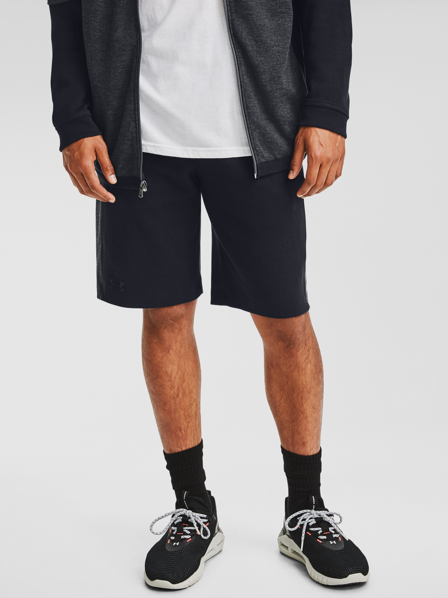 Kraťasy Under Armour DOUBLE KNIT SHORTS-BLK (1)