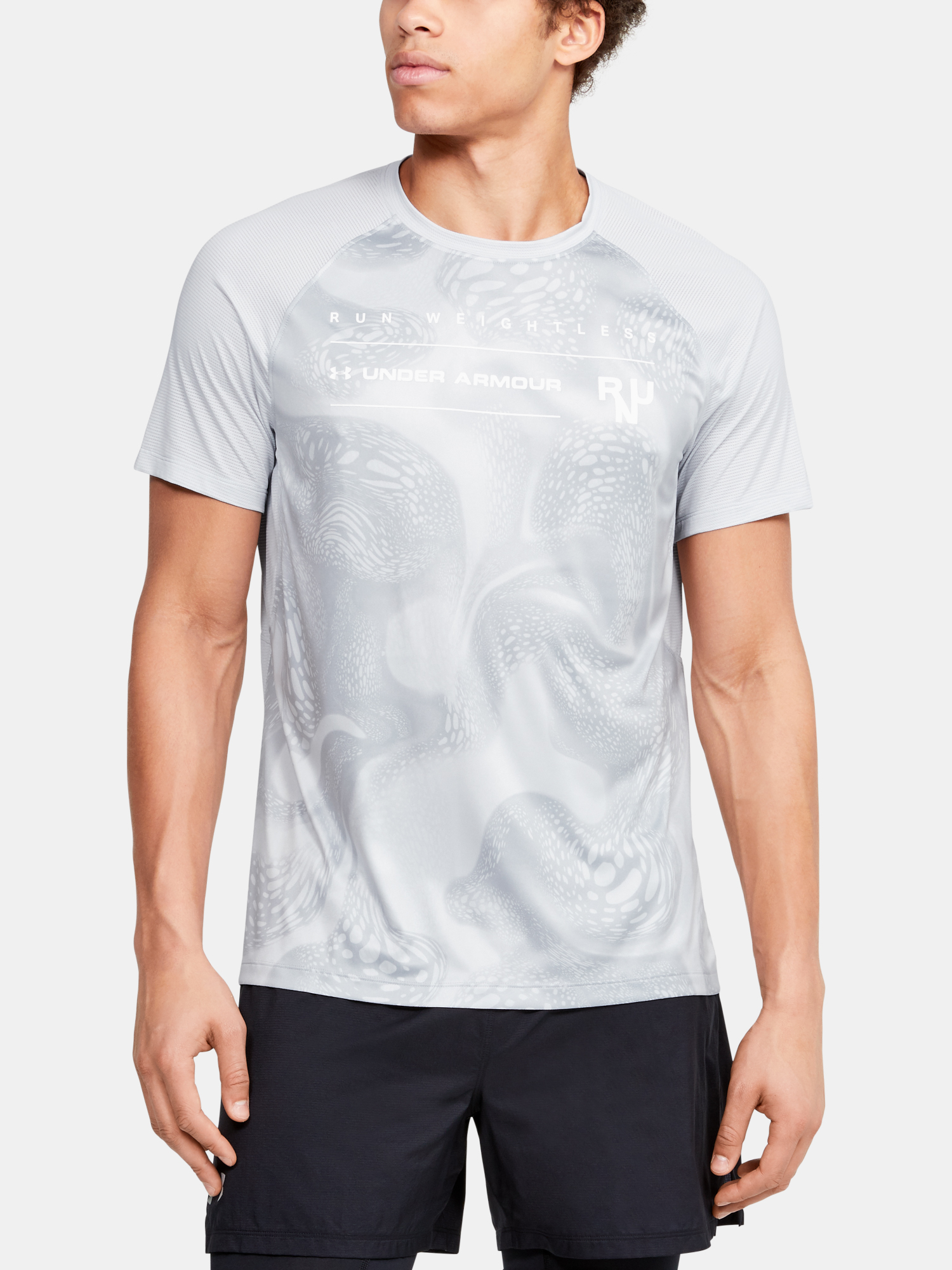 Tričko Under Armour M Qlifier Iso-Chill Weightless Shor (1)