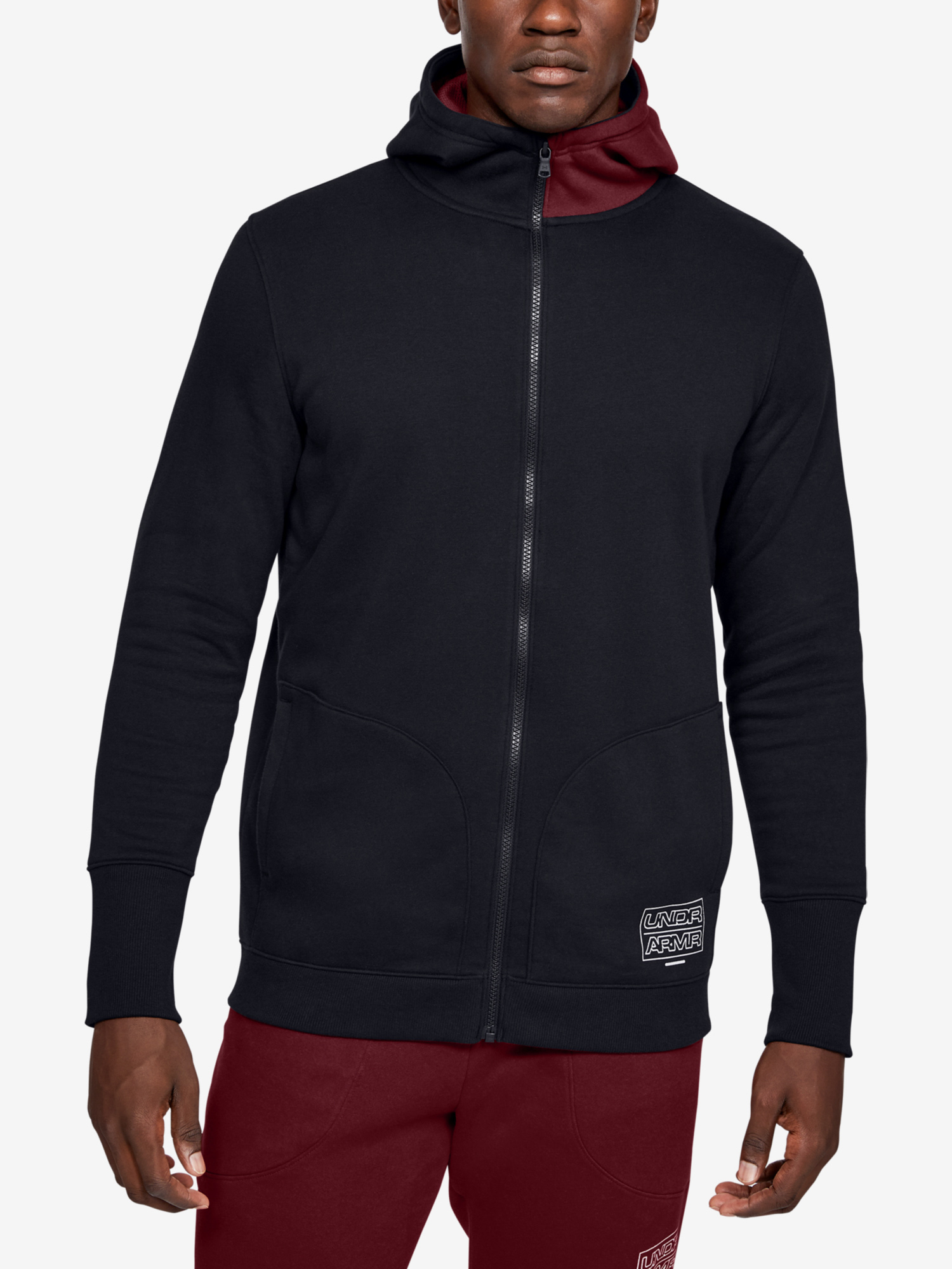 Mikina Under Armour Baseline Fleece Fz Hood (1)