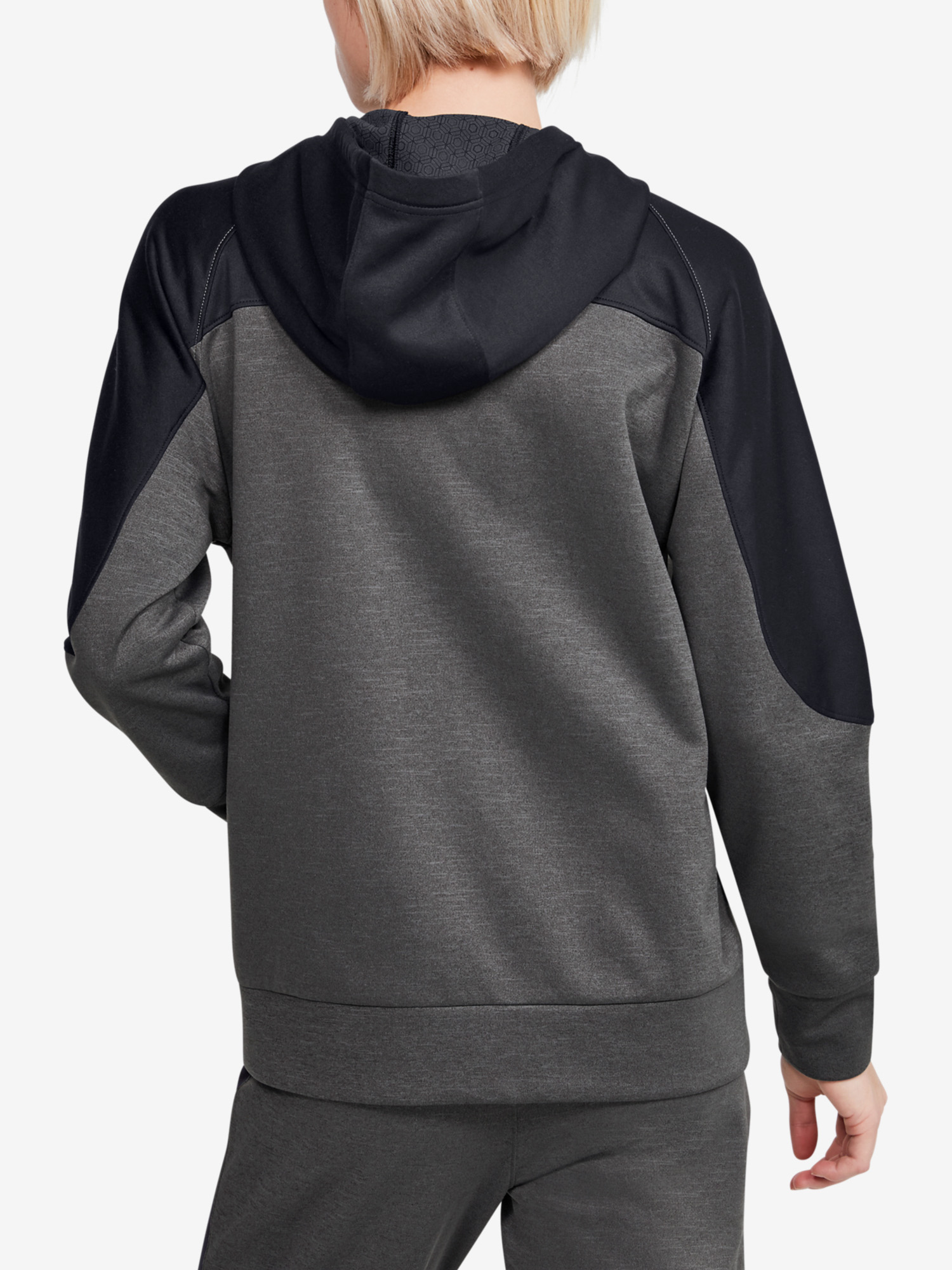 Mikina Under Armour Recover Knit FZ Hoodie-GRY (2)