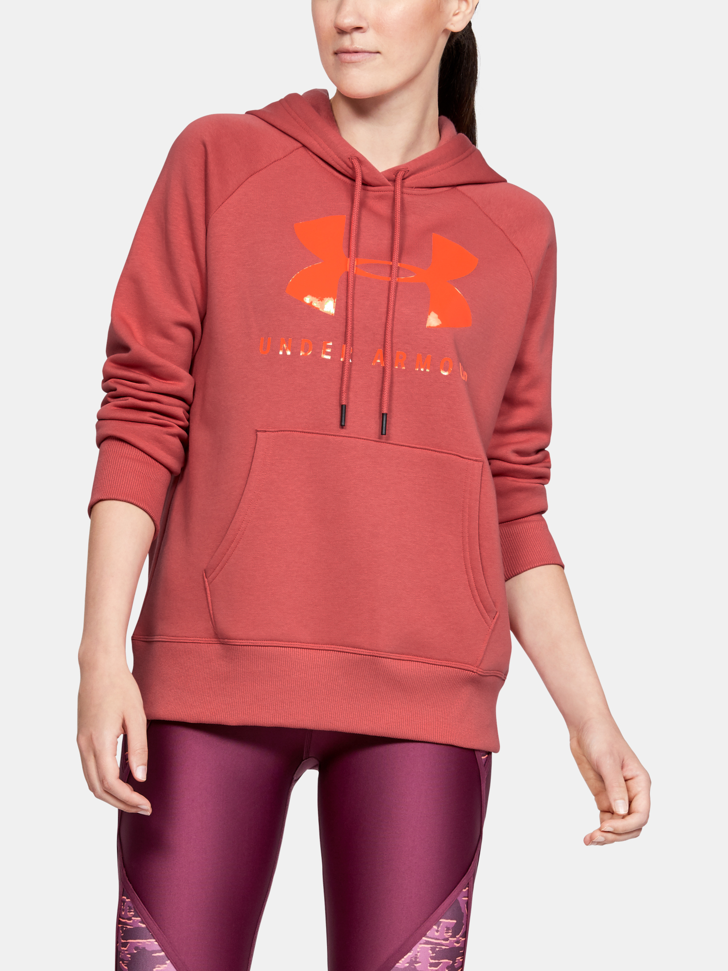 Mikina Under Armour Rival Fleece Sportstyle Graphic Hoodie-P (1)
