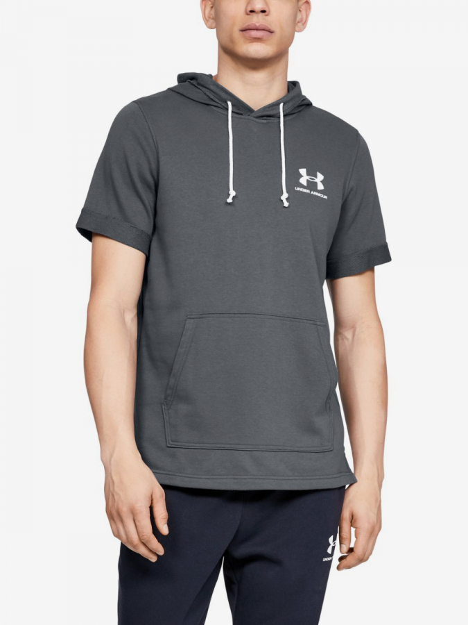 Mikina Under Armour Sportstyle Terry Ss Hoody-Gry (1)