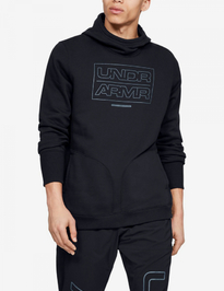 Mikina Under Armour Baseline Fleece Po Hood-Blk