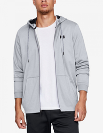 Mikina Under Armour Fleece Fz Hoodie-Gry
