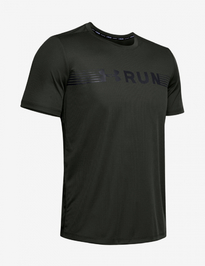 Tričko Under Armour Run Warped Shortsleeve-Grn