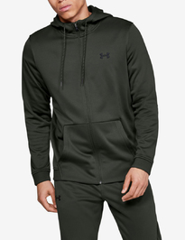 Mikina Under Armour Fleece Fz Hoodie-Grn