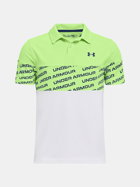 Tričko Under Armour Performance Wordmark Polo-GRN